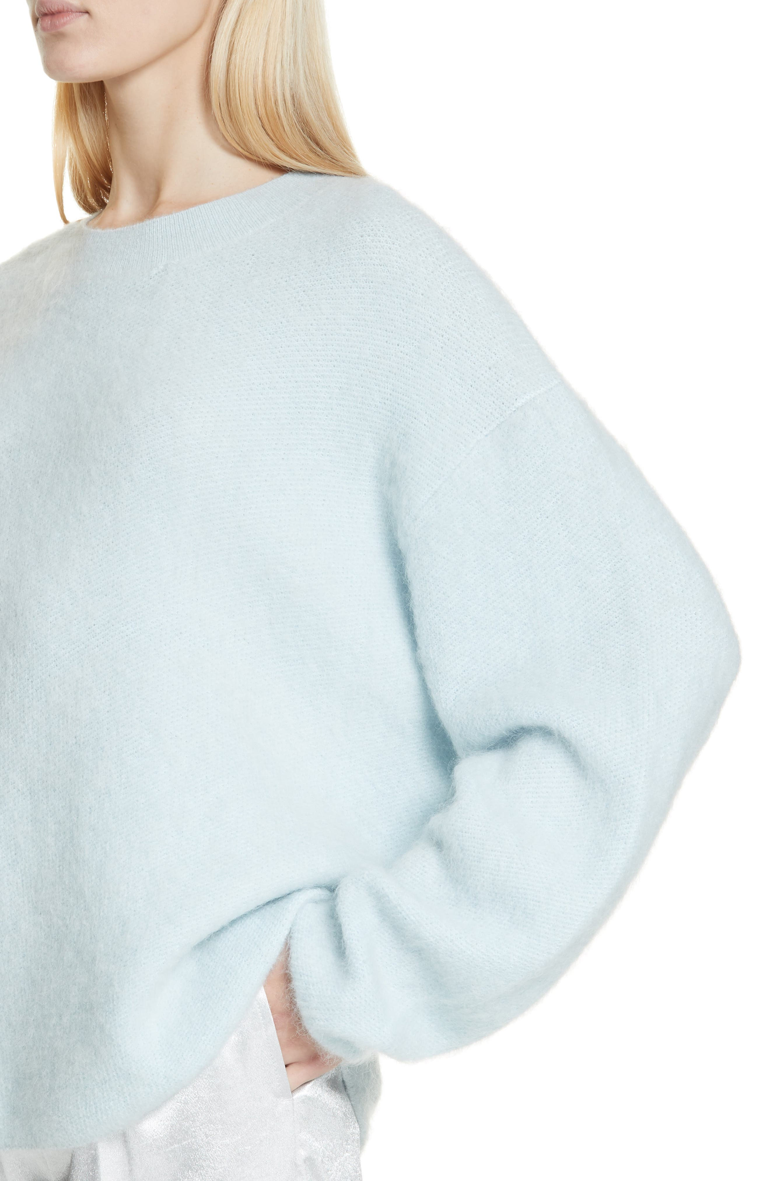VINCE, Oversize Sweater, Alternate thumbnail 4, color, ICE/ BLUE