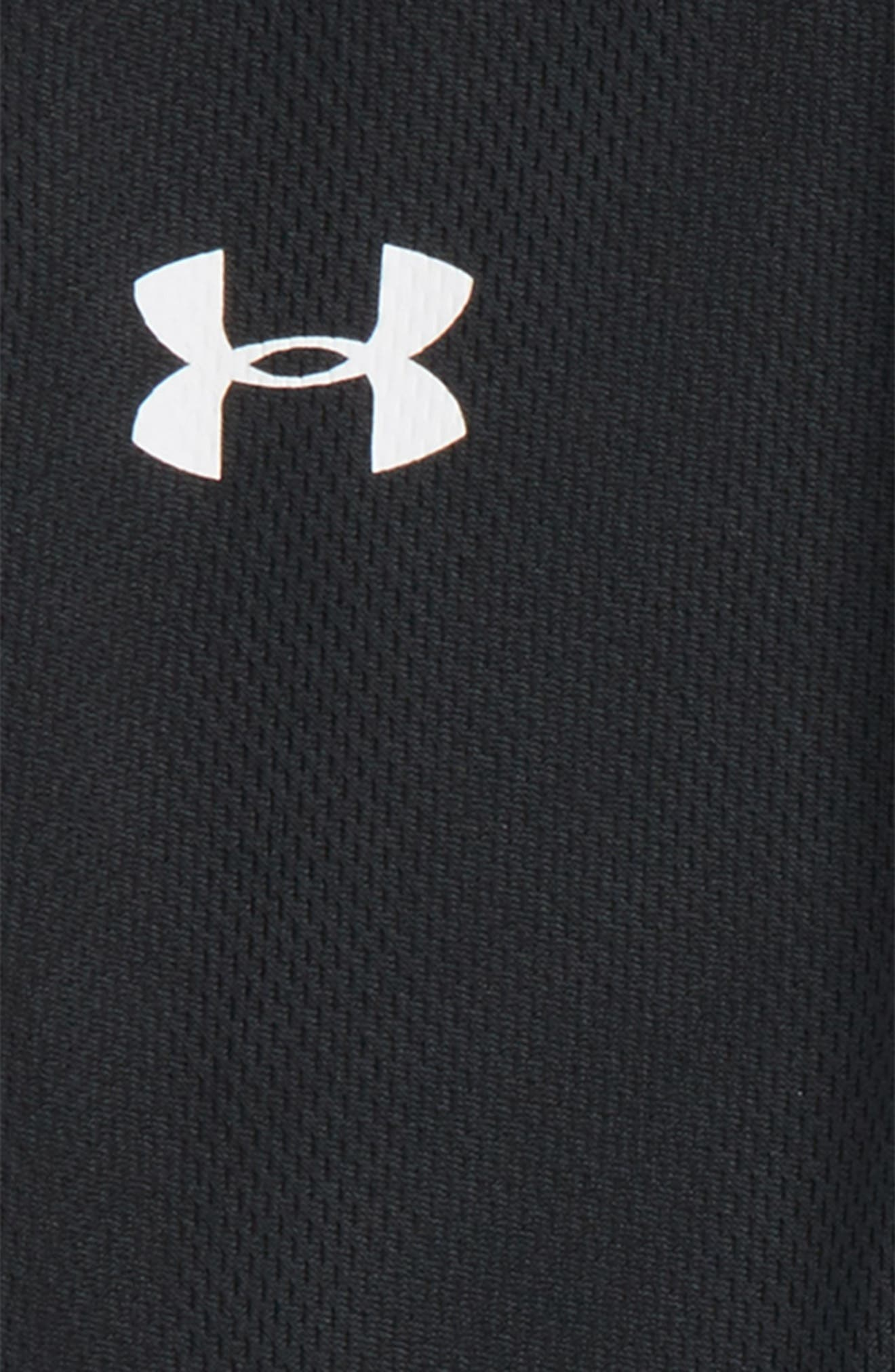 UNDER ARMOUR, Mesh Pants, Alternate thumbnail 2, color, BLACK