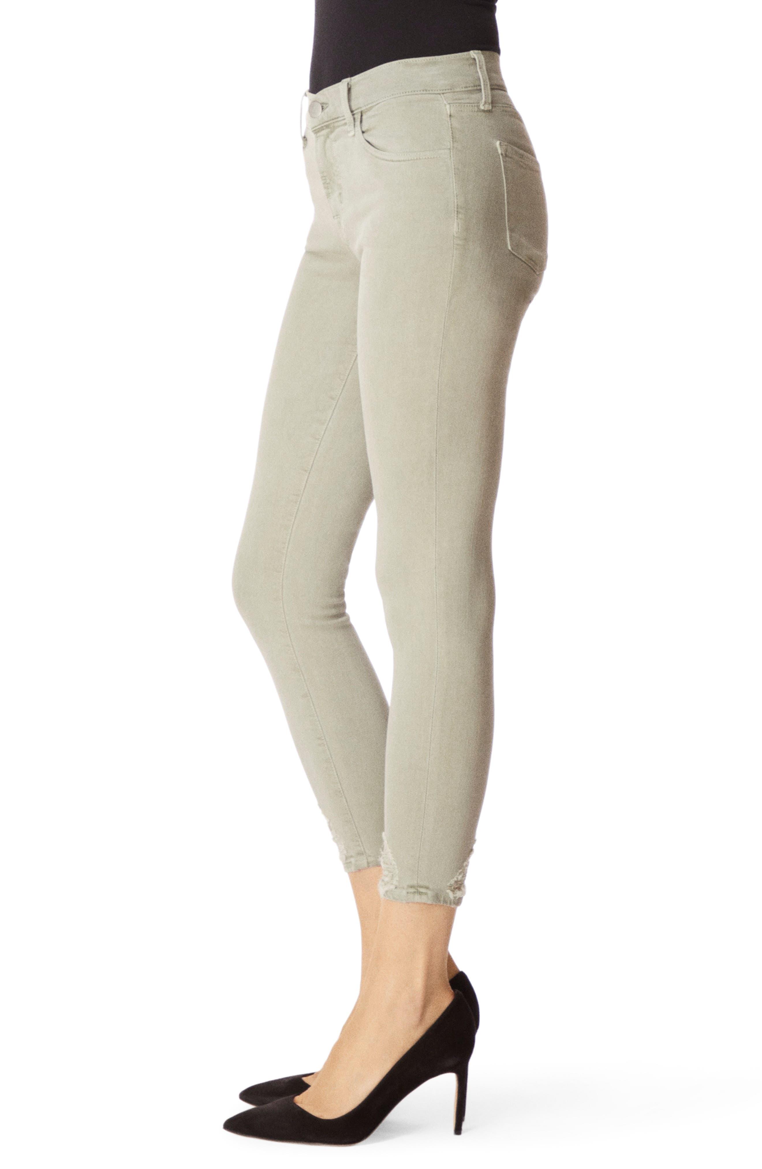 J BRAND, 835 Capri Skinny Jeans, Alternate thumbnail 3, color, FADED GIBSON DESTRUCT