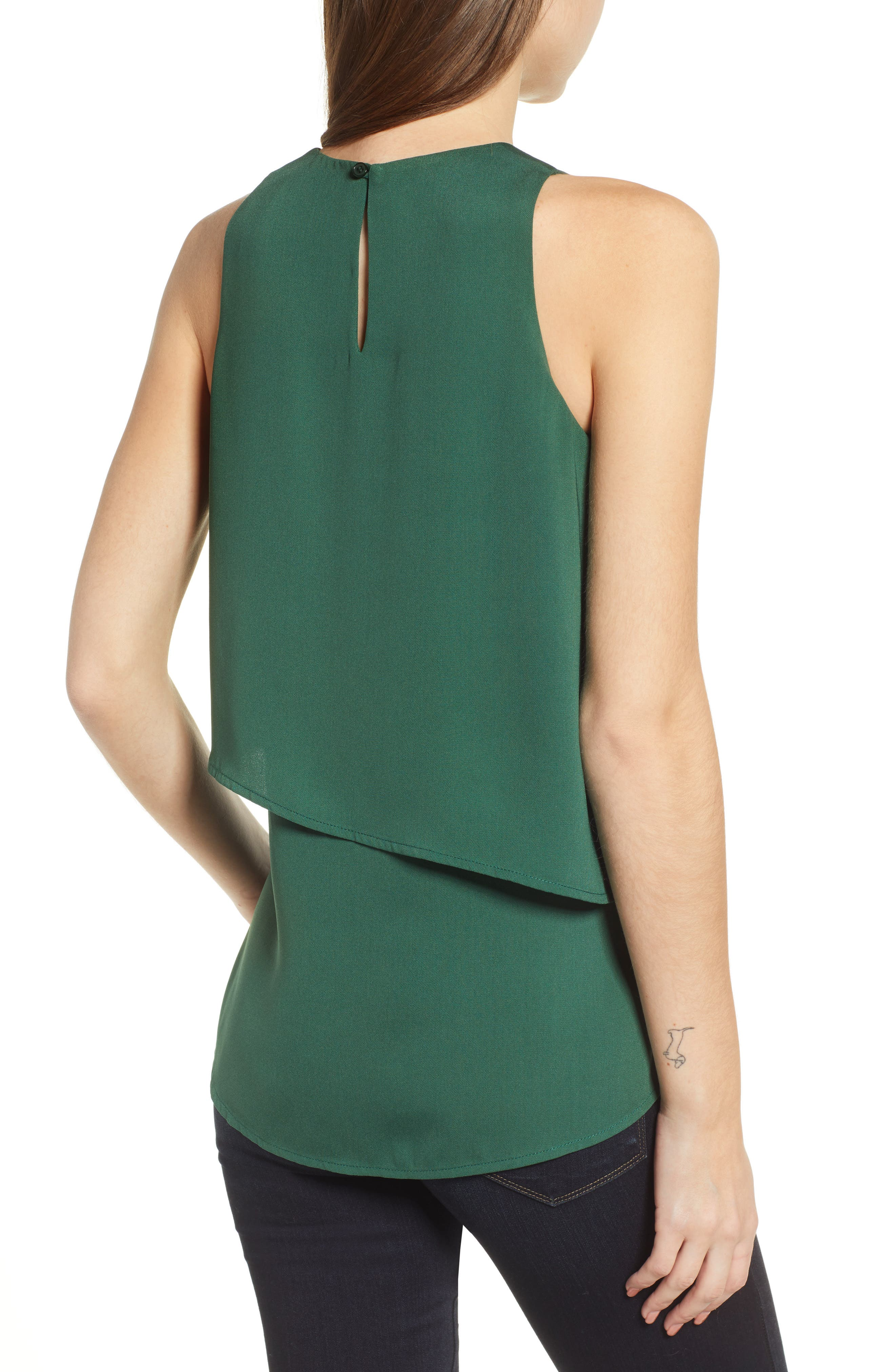 CHELSEA28, Tiered Sleeveless Top, Alternate thumbnail 2, color, 301
