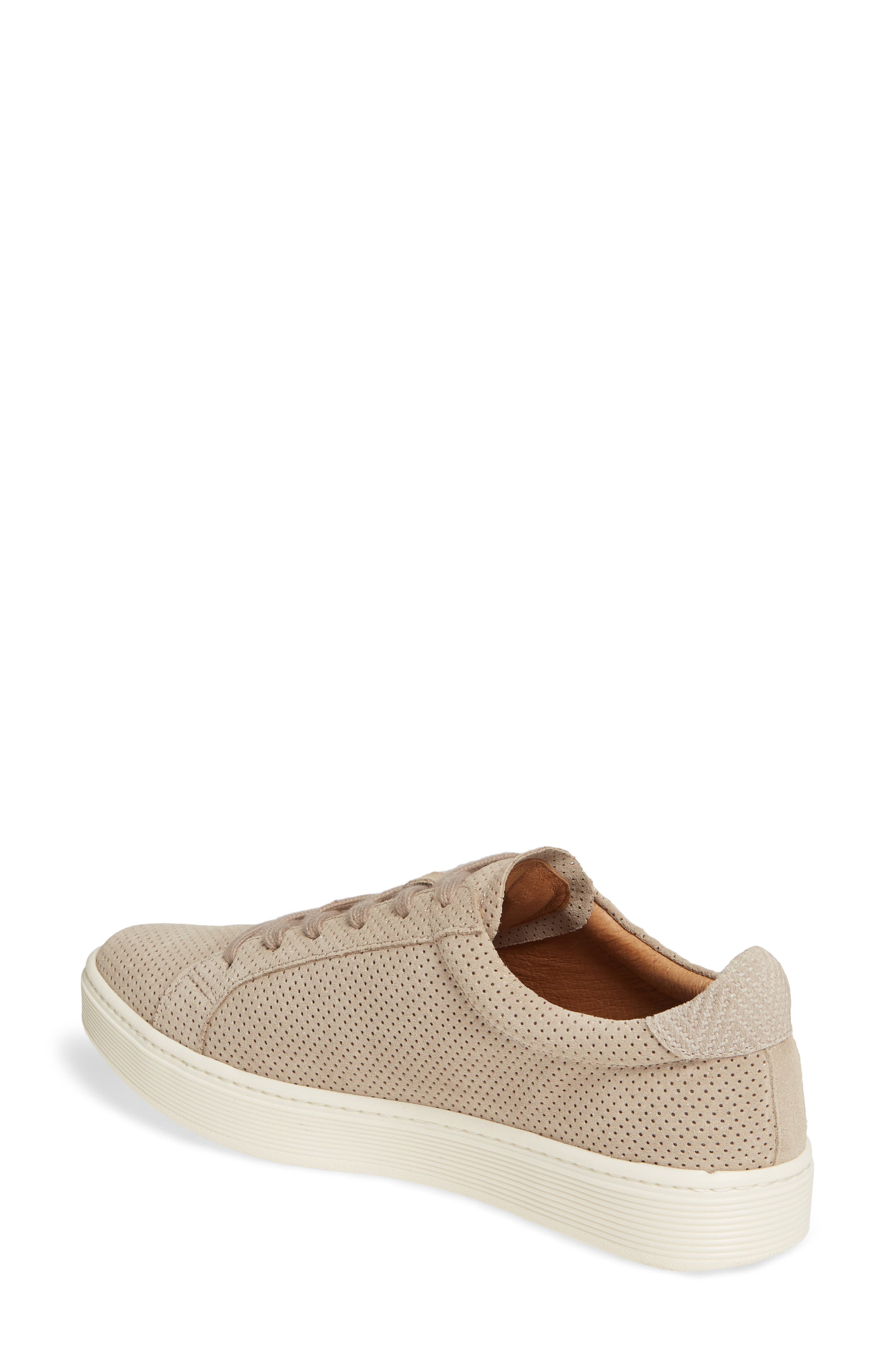 SÖFFT, Somers Perforated Sneaker, Alternate thumbnail 2, color, MOONSTONE GREY SUEDE