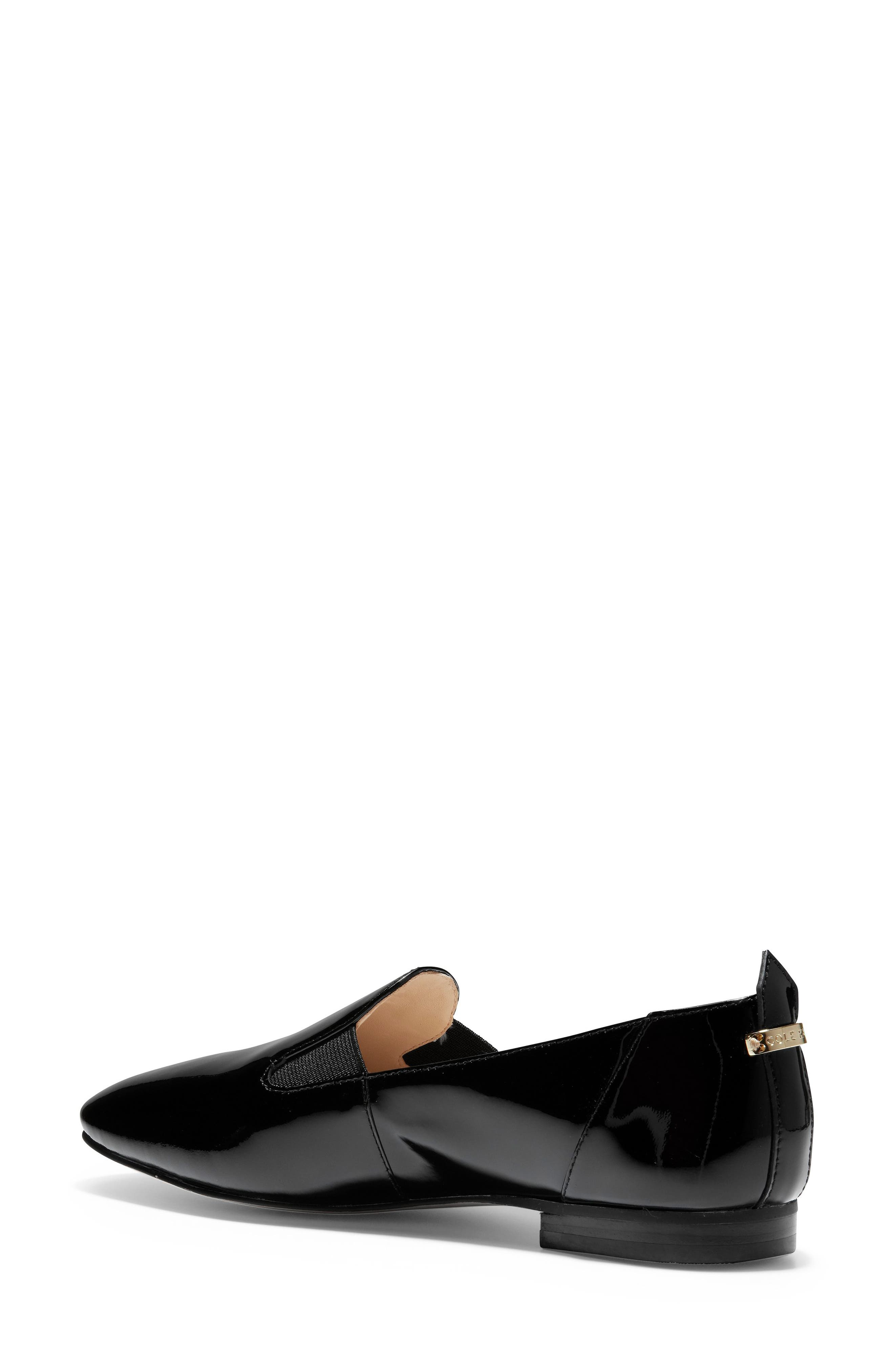 COLE HAAN, Portia Loafer, Alternate thumbnail 2, color, BLACK PATENT LEATHER