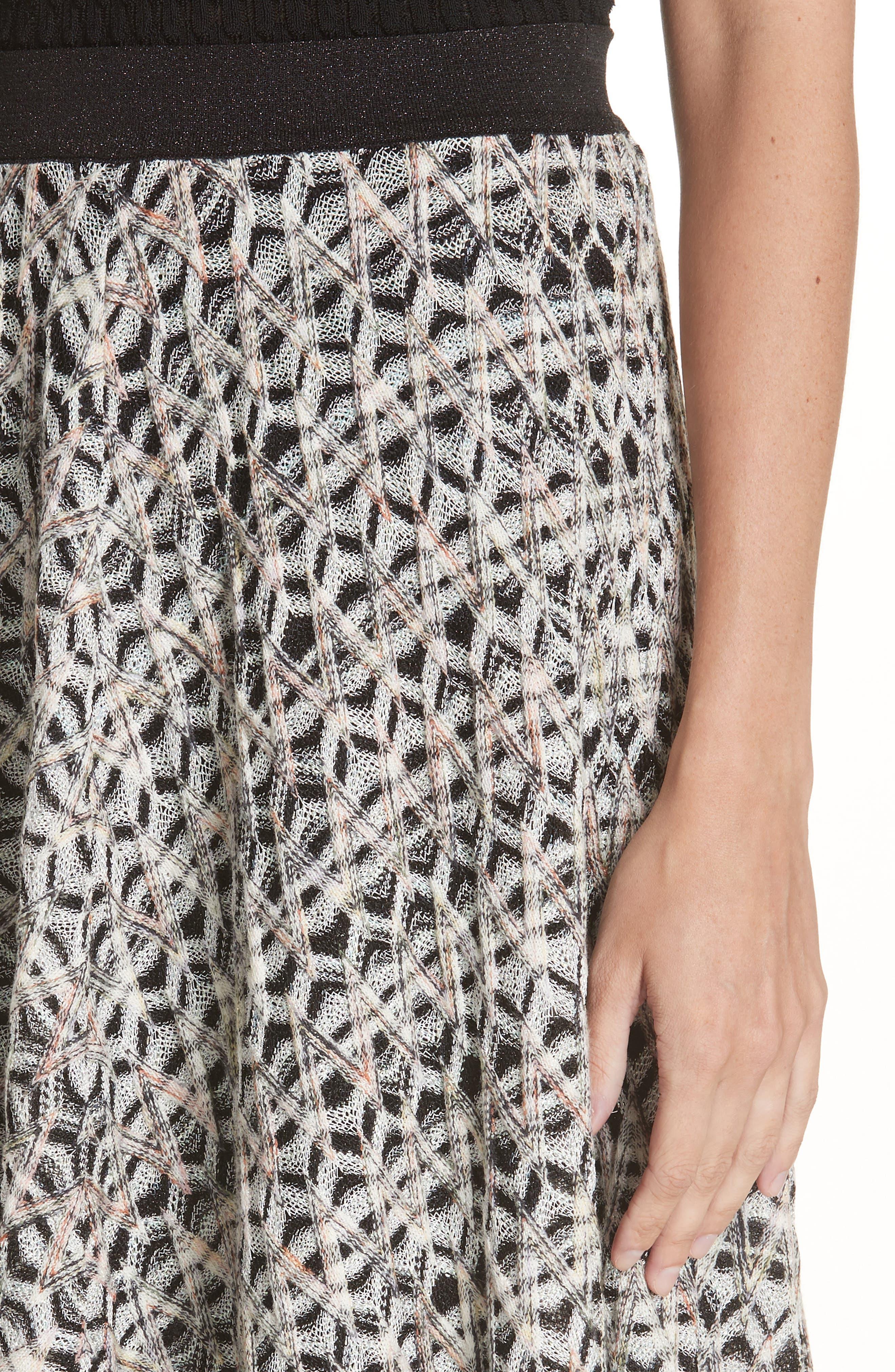 MISSONI, Zig Zag A-Line Skirt, Alternate thumbnail 4, color, MULTI