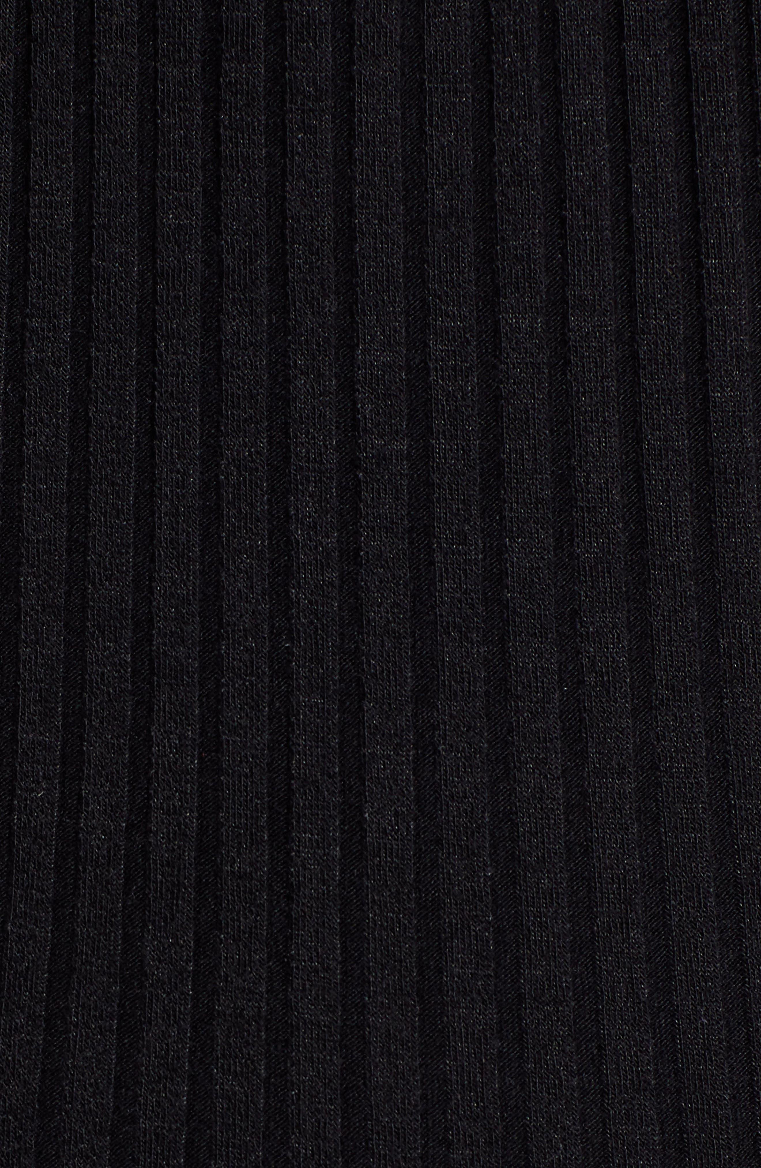 BP., Wide Leg Rib Jumpsuit, Alternate thumbnail 7, color, BLACK