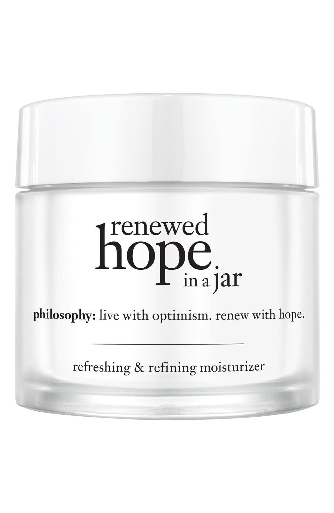PHILOSOPHY, renewed hope in a jar refreshing & refining moisturizer, Alternate thumbnail 3, color, NO COLOR