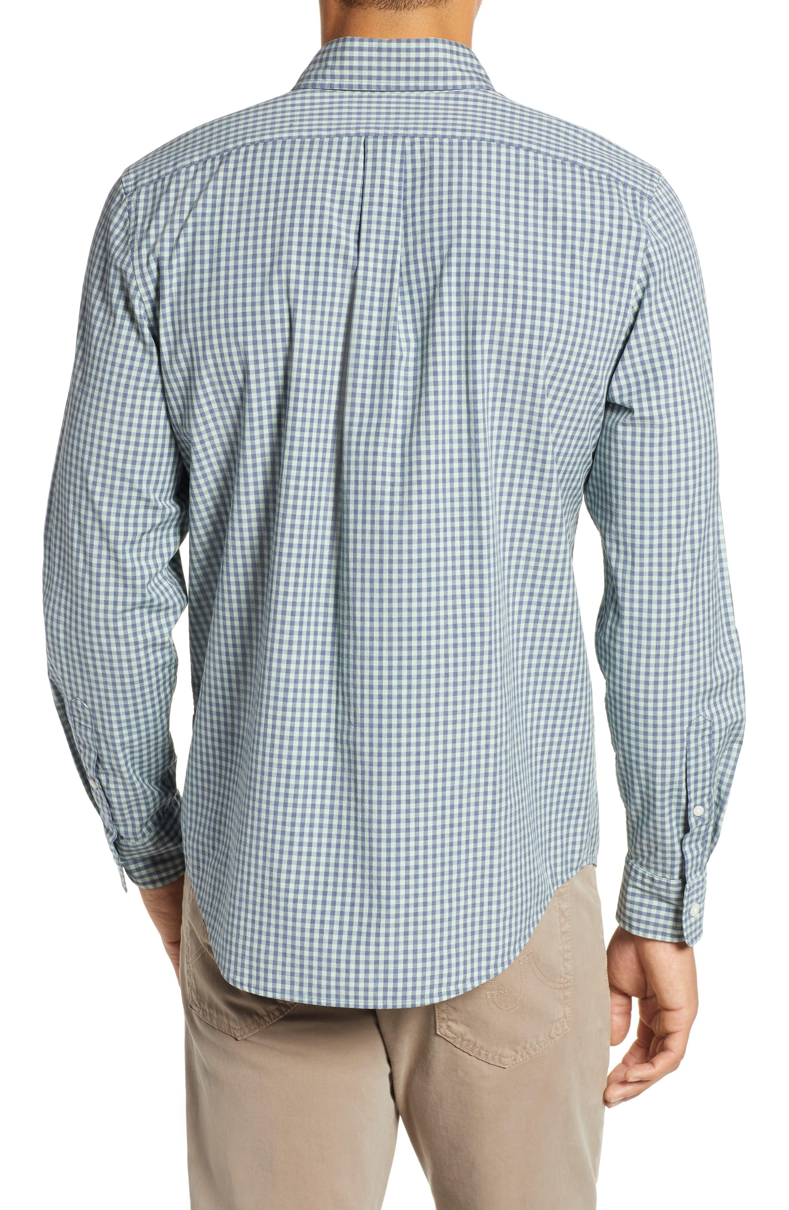 VINEYARD VINES, Gingham Check Sport Shirt, Alternate thumbnail 3, color, 362