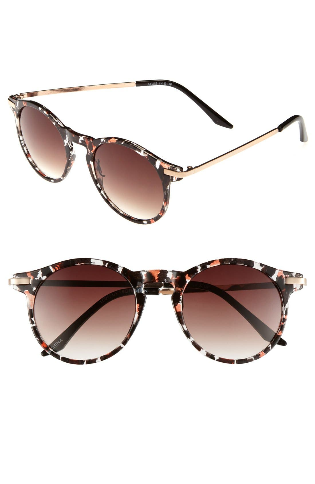 FE NY, 'Amadora' Sunglasses, Main thumbnail 1, color, 200