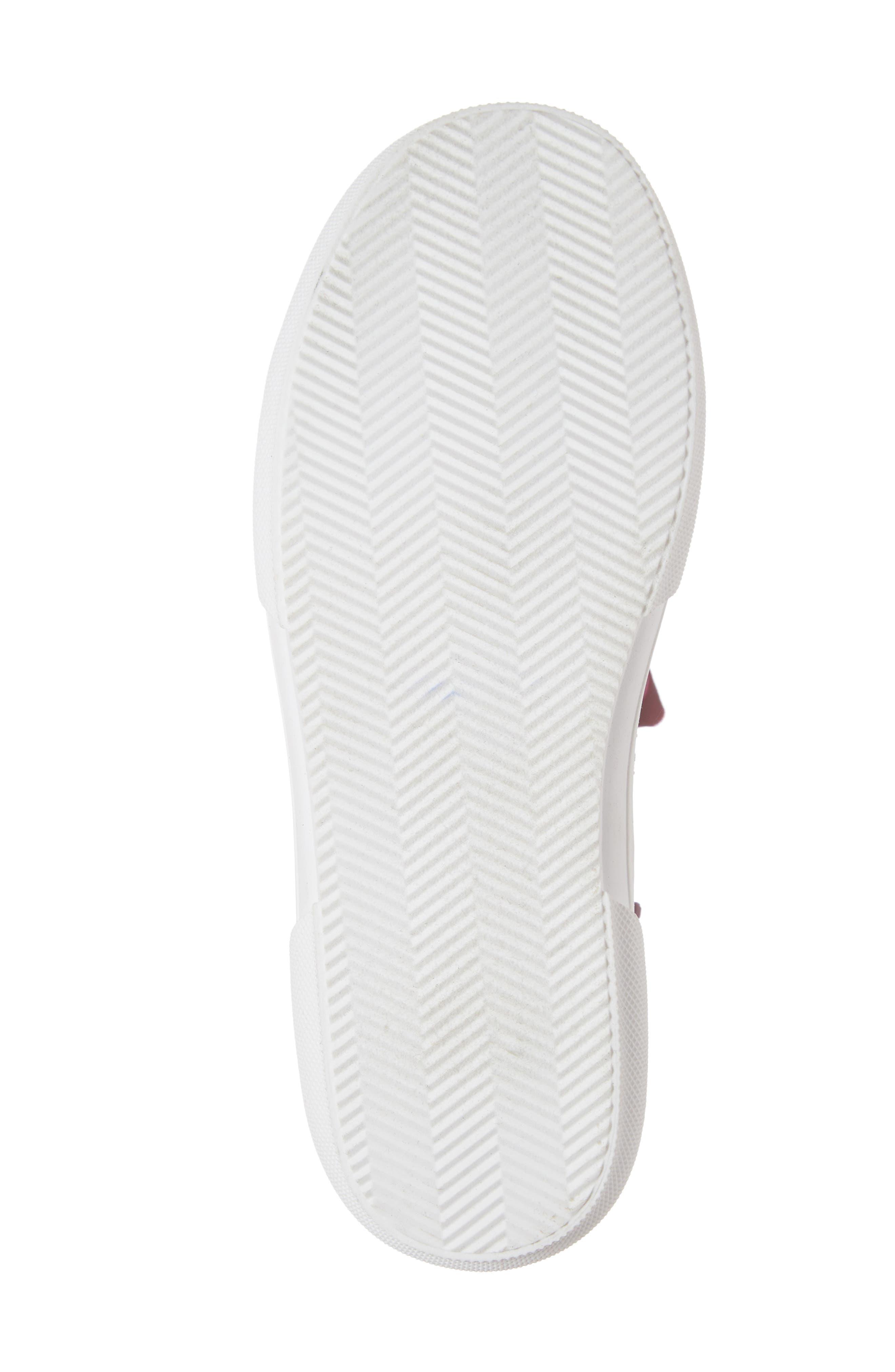 TUCKER + TATE, Skylar Glitter Sneaker, Alternate thumbnail 6, color, FUSCHIA MULTI GLITTER PU