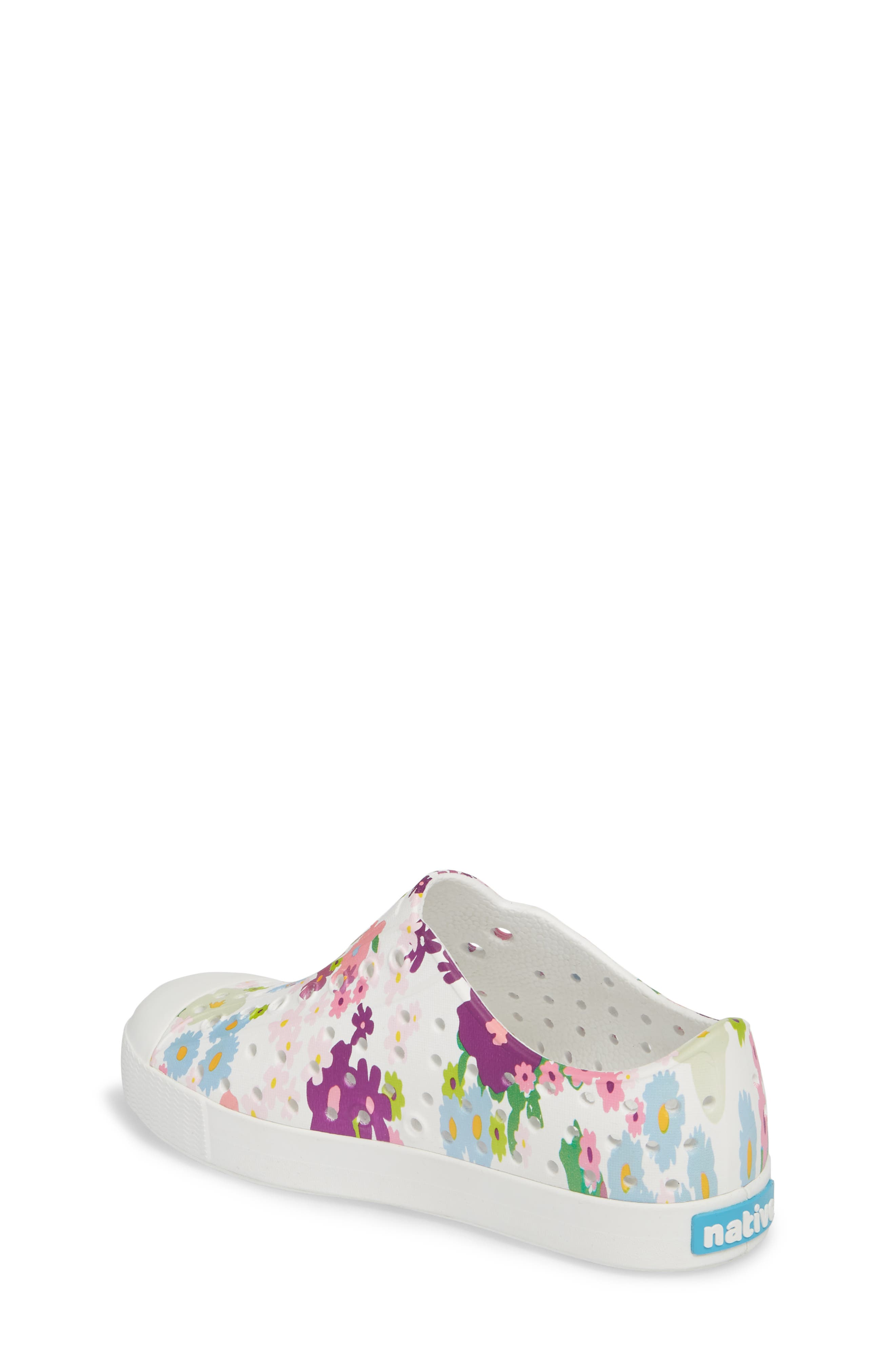 NATIVE SHOES, Jefferson Quartz Slip-On Vegan Sneaker, Alternate thumbnail 2, color, SHELL WHITE/ DAISY PRINT