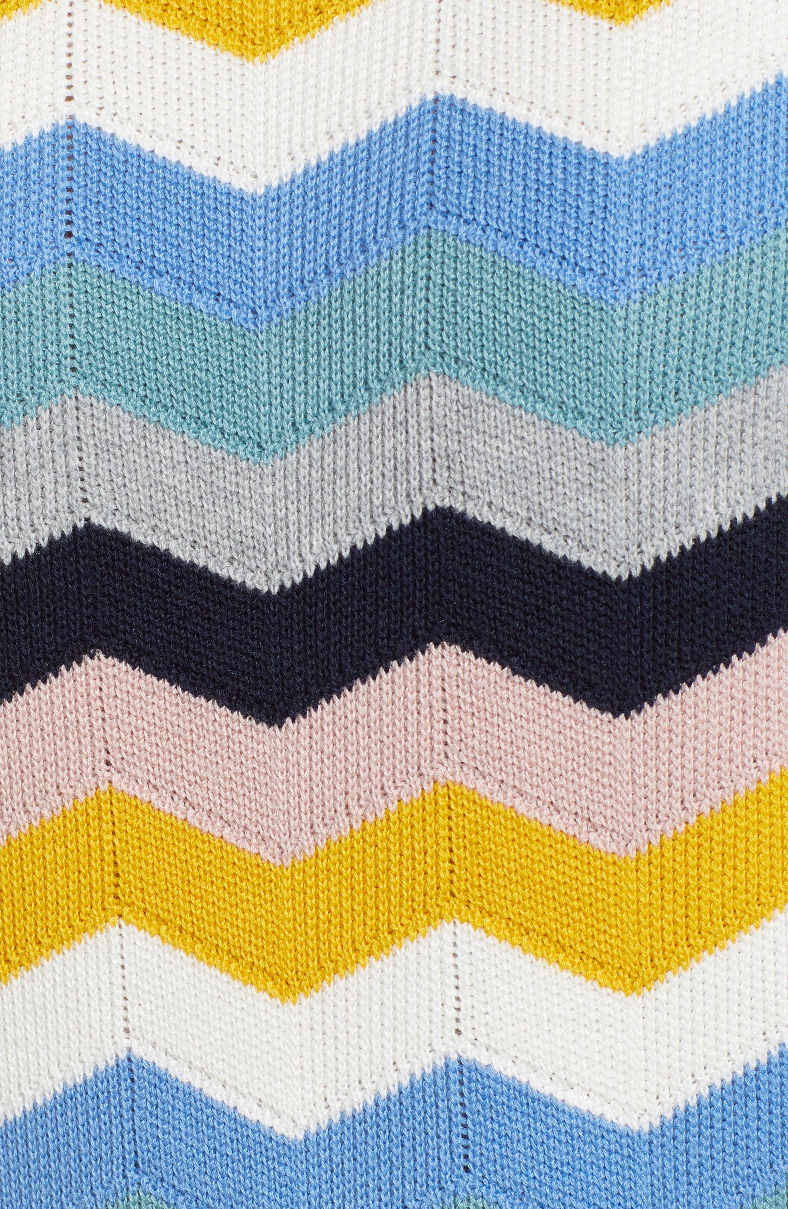 1901, Chevron Jacquard Sweater, Alternate thumbnail 5, color, BLUE MULTI CHEVRON PATTERN