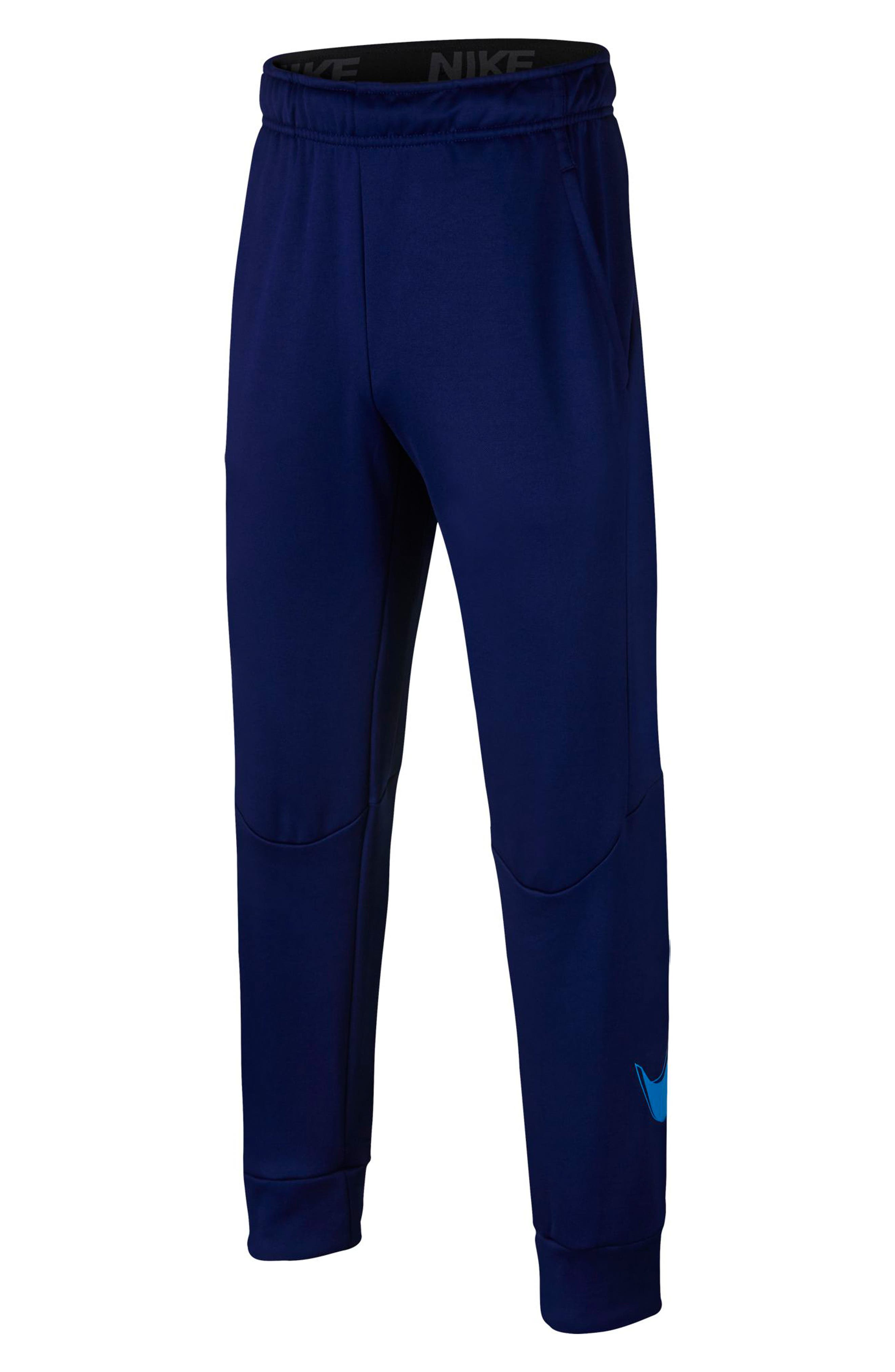 NIKE, Therma Sweatpants, Main thumbnail 1, color, BLUE VOID/ BLUE HERO