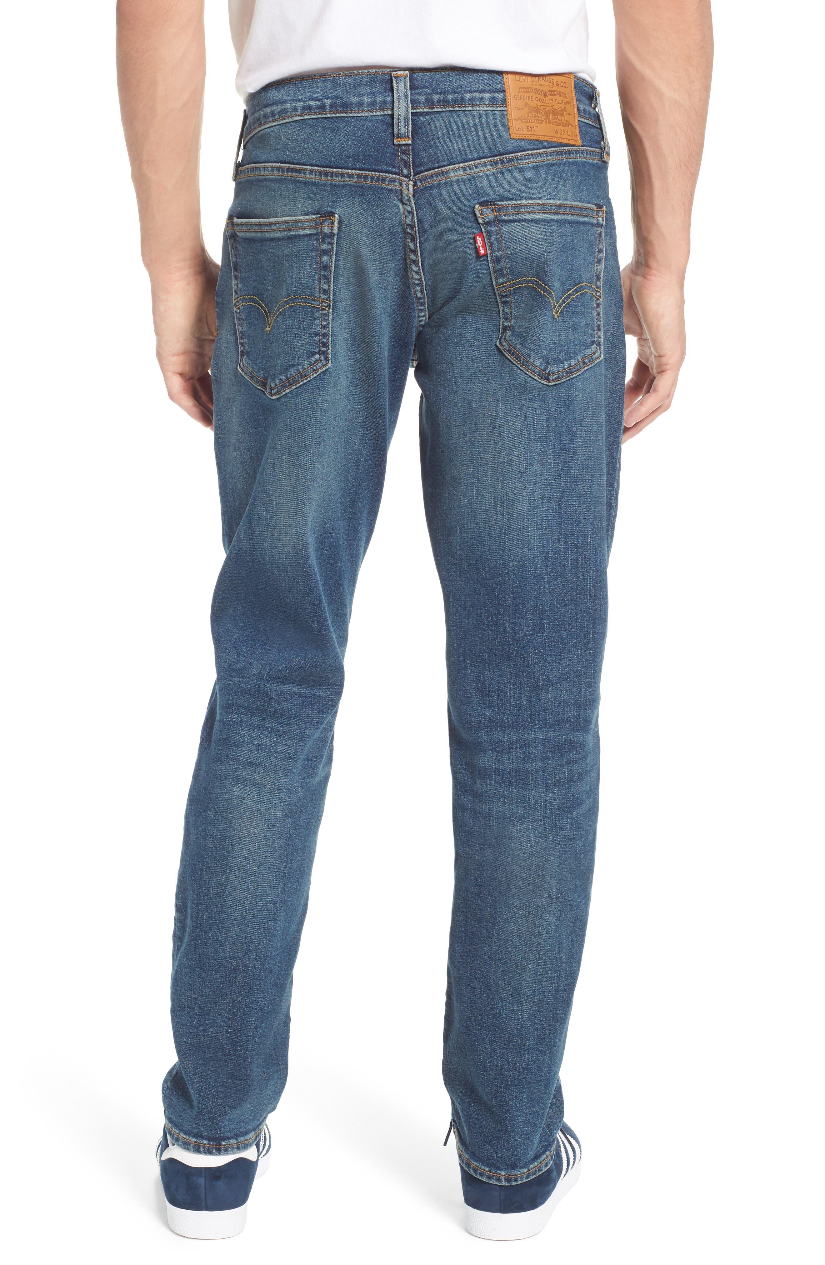 LEVI'S<SUP>®</SUP>, 511<sup>™</sup> Slim Fit Jeans, Alternate thumbnail 2, color, 422