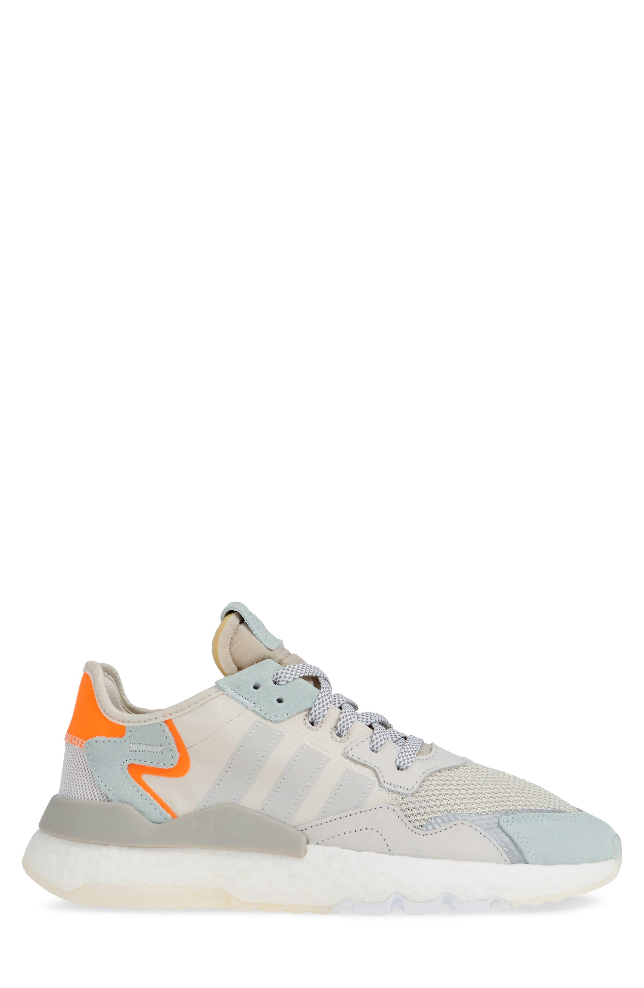 ADIDAS, Nite Jogger Sneaker, Alternate thumbnail 3, color, RAW WHITE/ GREY/ VAPOR GREEN