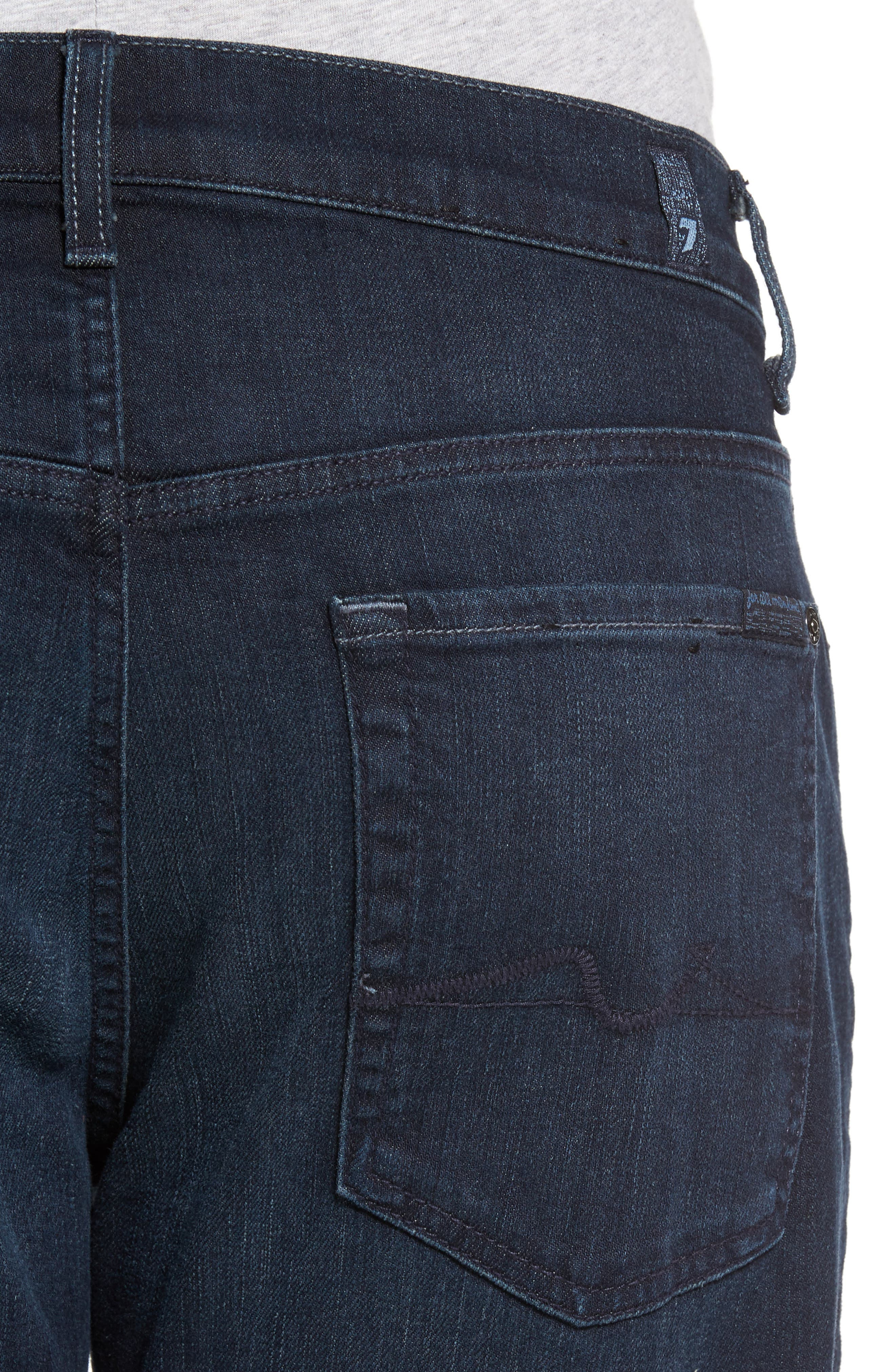 7 FOR ALL MANKIND<SUP>®</SUP>, Luxe Performance - Carsen Straight Leg Jeans, Alternate thumbnail 5, color, DARK CURRENT