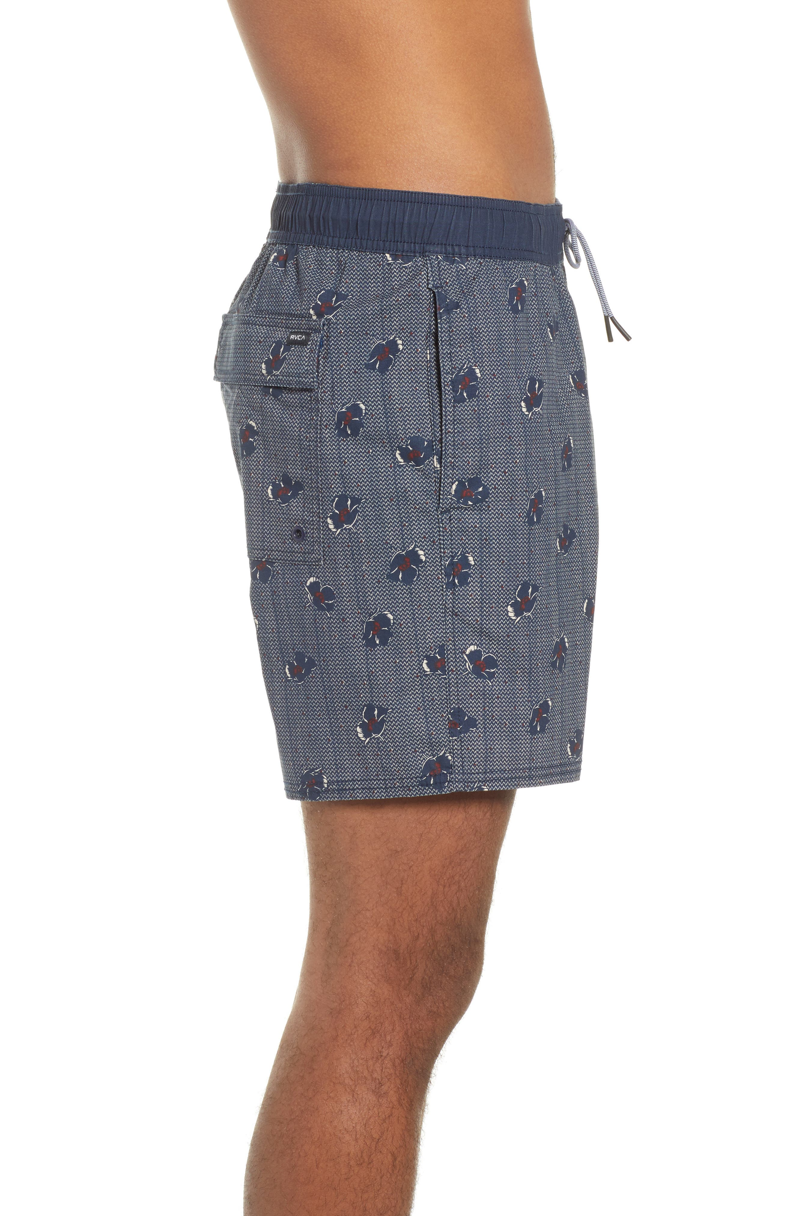 RVCA, Newton Hybrid Shorts, Alternate thumbnail 3, color, NAVY
