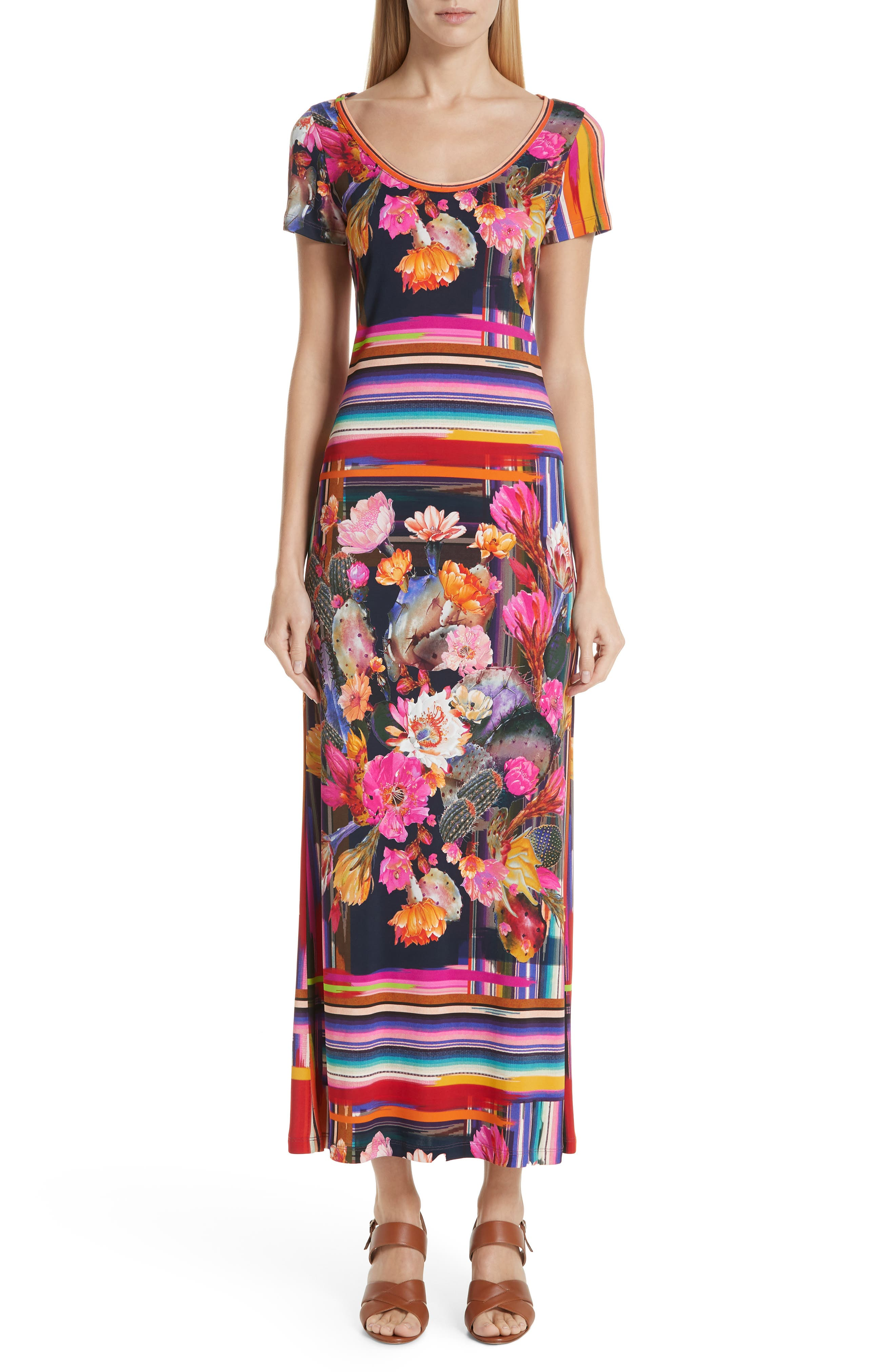 Fuzzi Cactus Tulle Maxi Dress, Pink