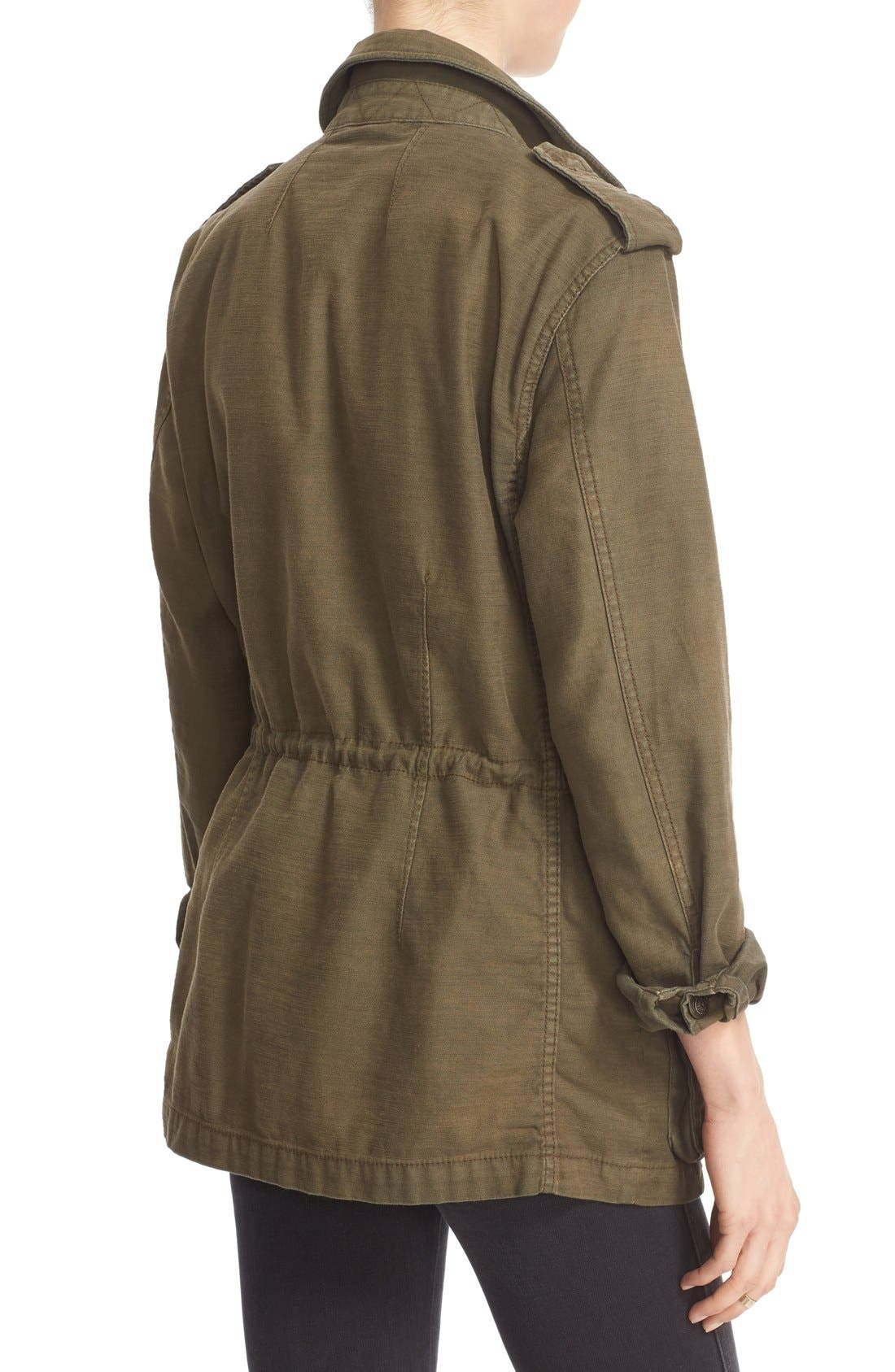 FREE PEOPLE, 'Not Your Brother's' Utility Jacket, Alternate thumbnail 6, color, 400