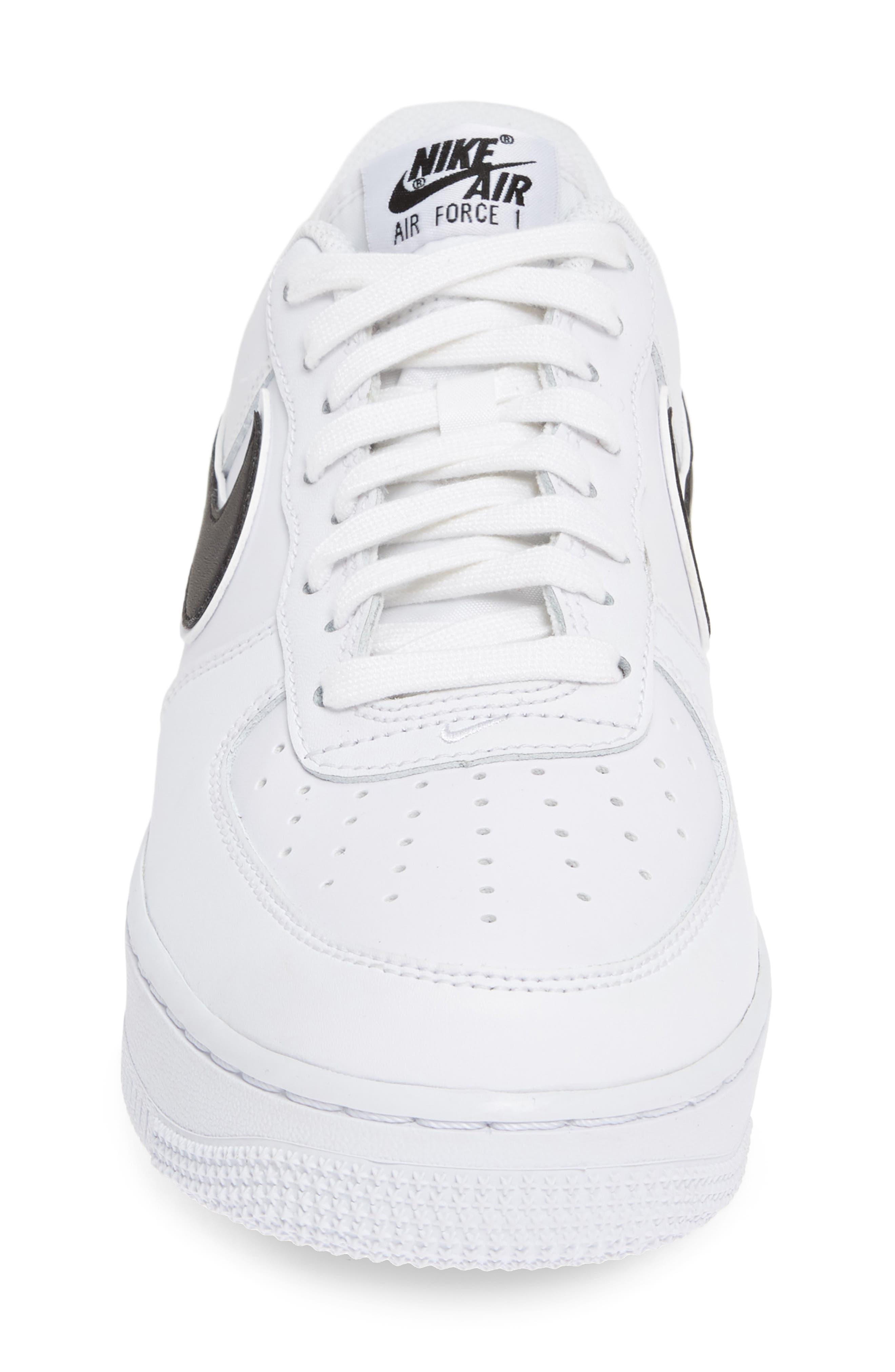 NIKE, Air Force 1 '07 3 Sneaker, Alternate thumbnail 4, color, WHITE/ BLACK