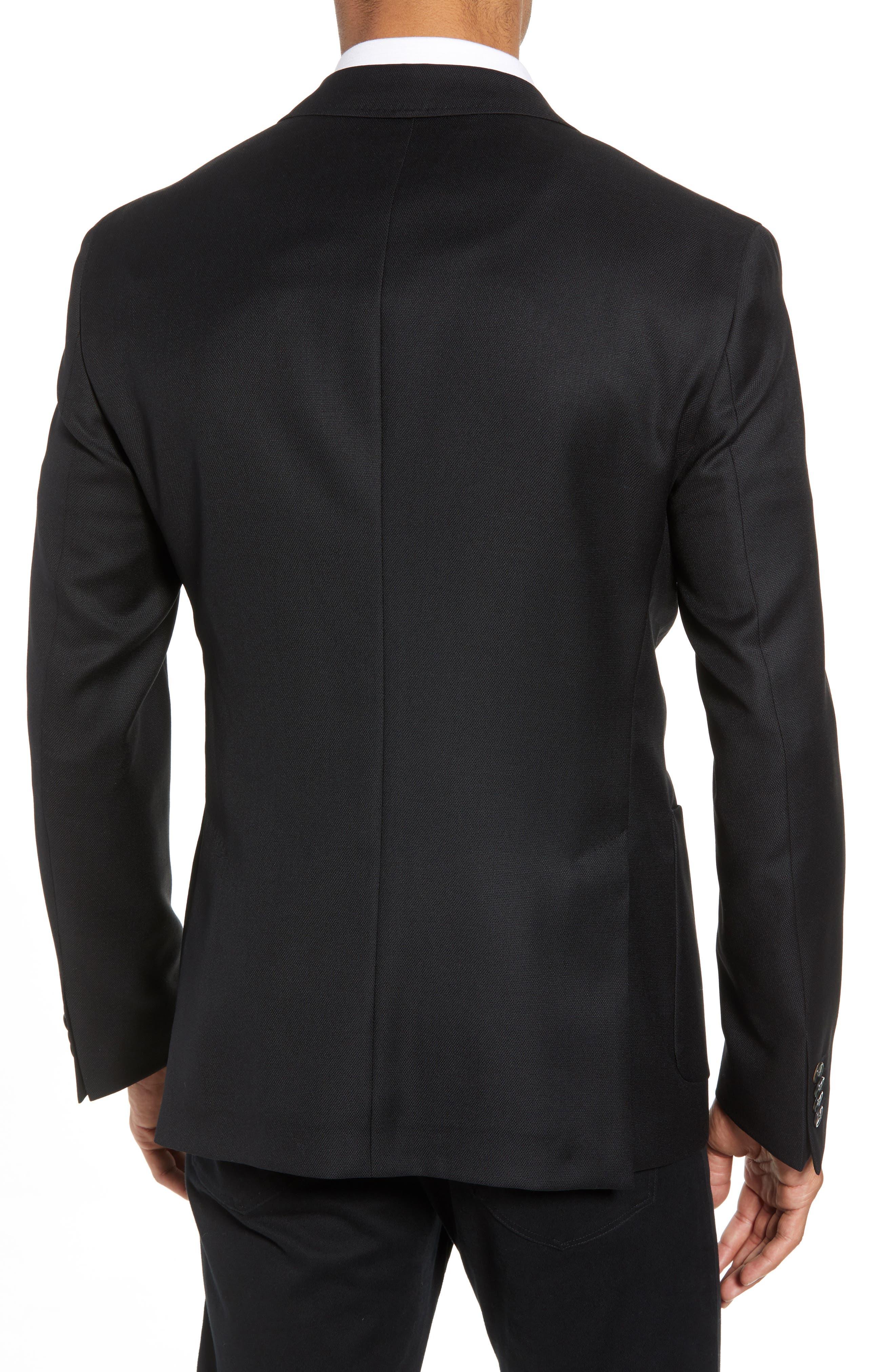 BOSS, Raye Extra Slim Fit Sport Coat, Alternate thumbnail 2, color, BLACK