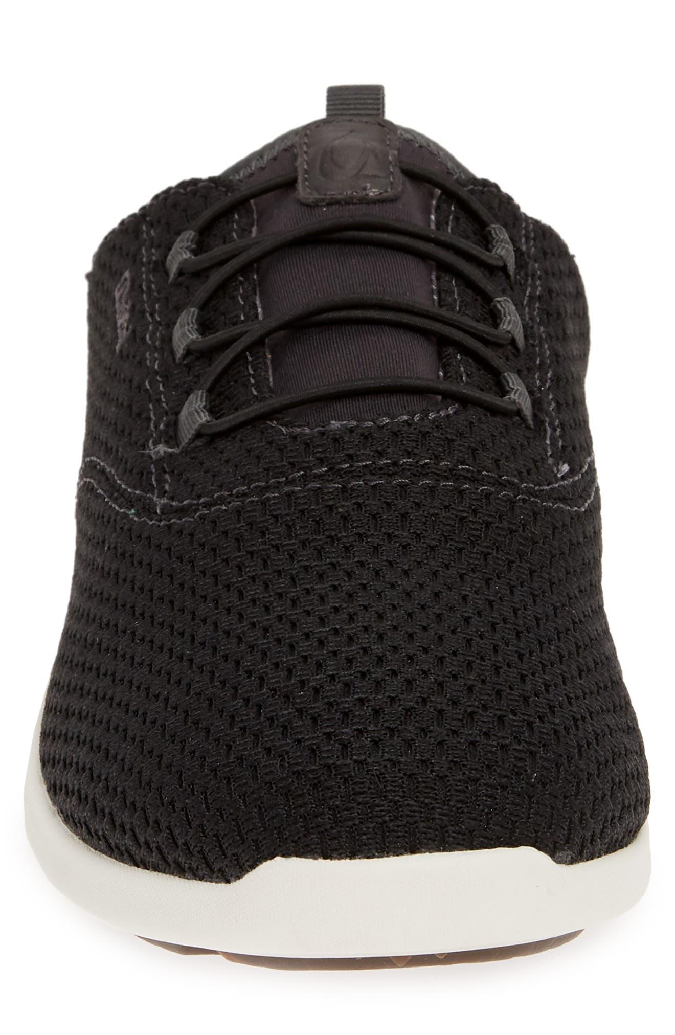 OLUKAI, Alapa Li Sneaker, Alternate thumbnail 5, color, BLACK/ DARK SHADOW MESH