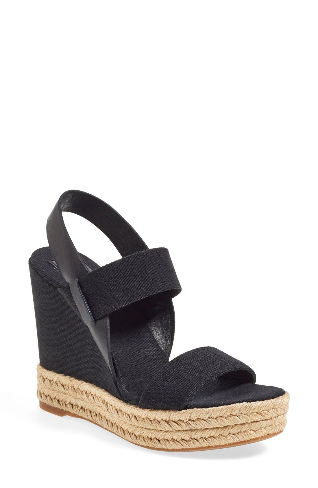 TORY BURCH Espadrille Wedge Sandal, Main, color, 009