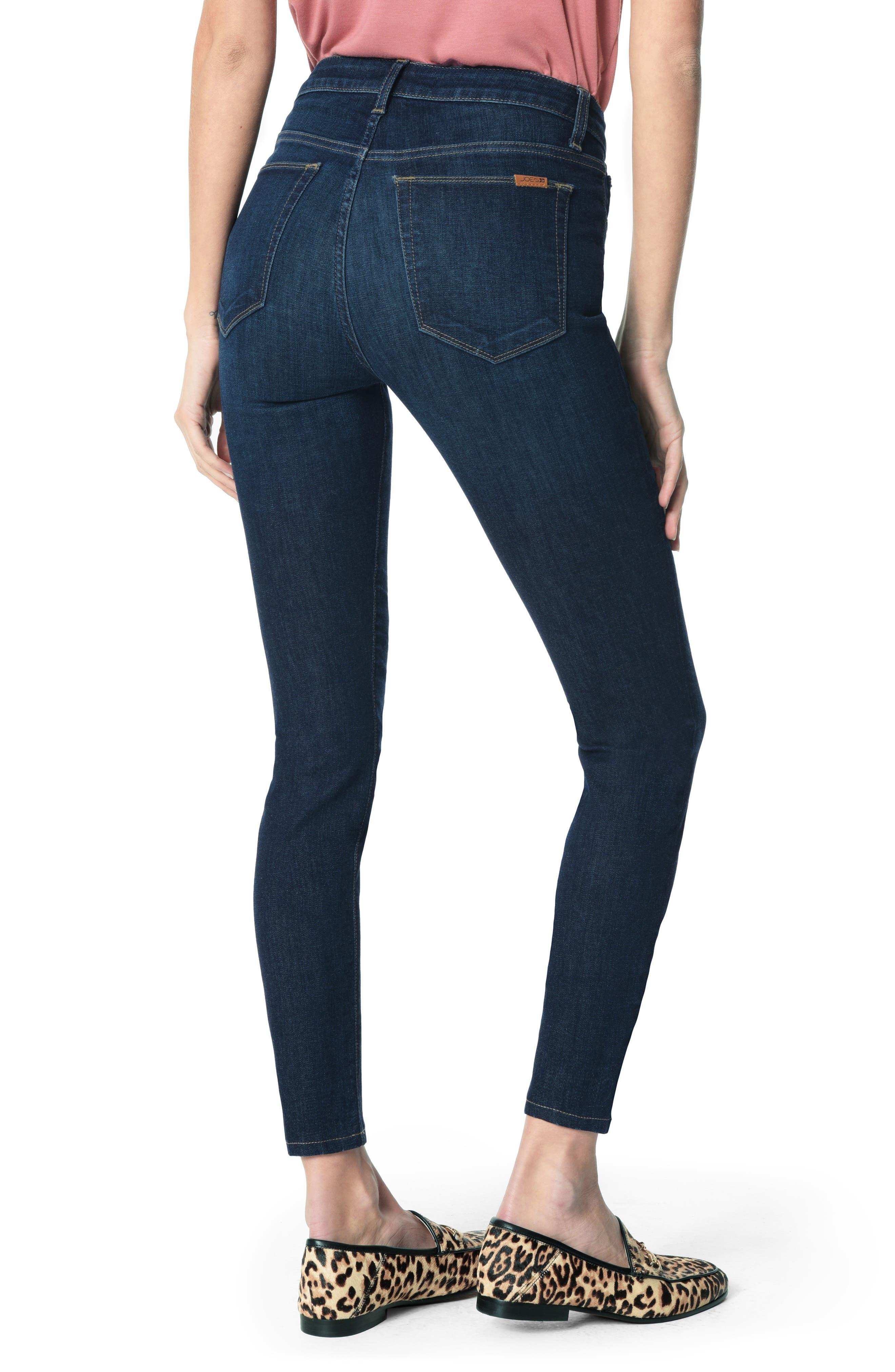 JOE'S, Honey High Waist Ankle Skinny Jeans, Alternate thumbnail 2, color, BRITT