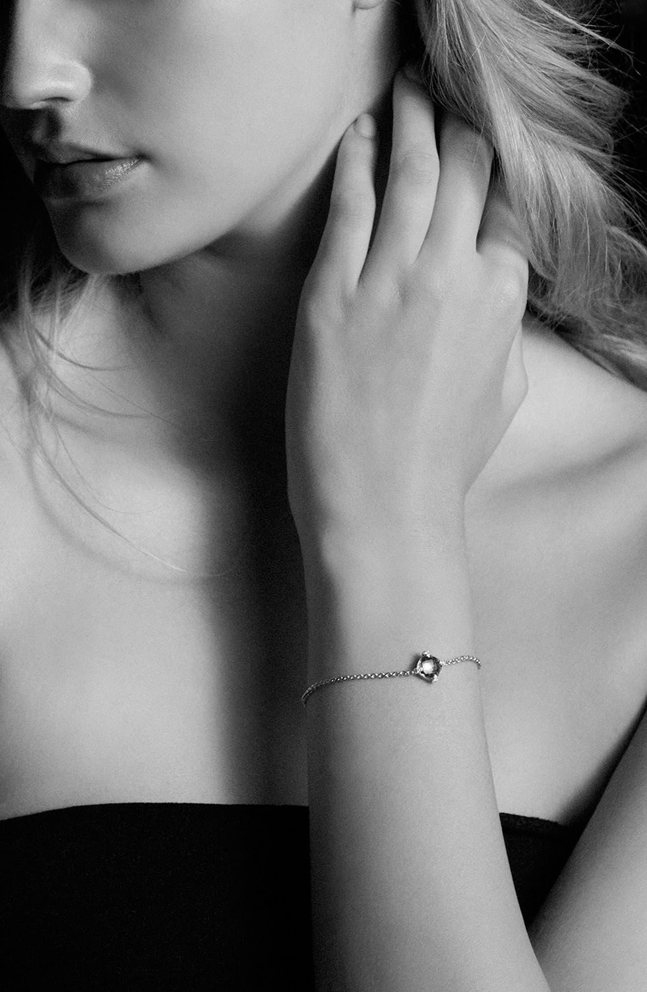 DAVID YURMAN, 'Châtelaine' Bracelet with Diamonds in 18K Gold, Alternate thumbnail 2, color, TURQUOISE