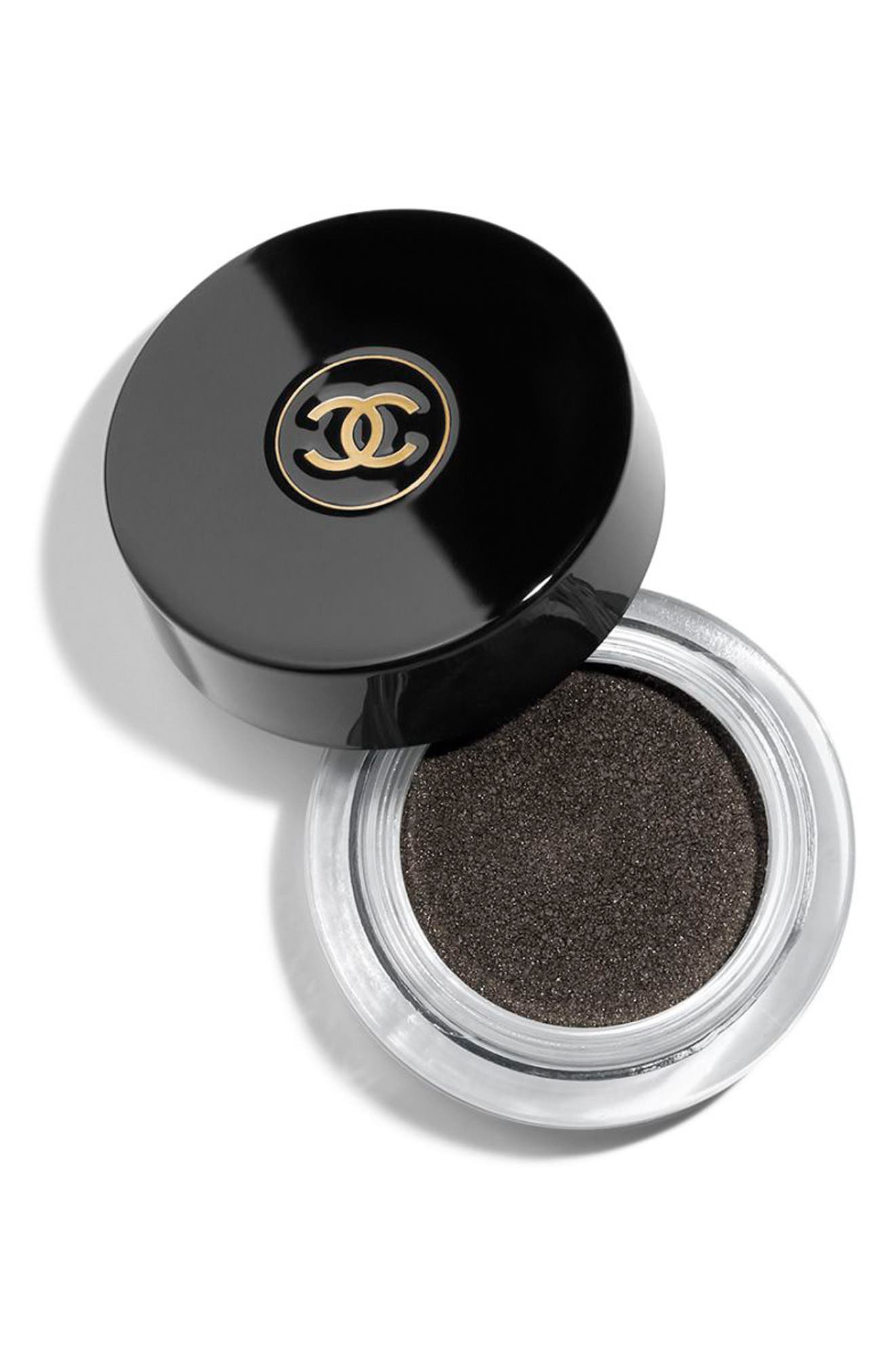 CHANEL OMBRE PREMIÈRE<br />Longwear Cream Eyeshadow, Main, color, 812 NOIR PETROLE