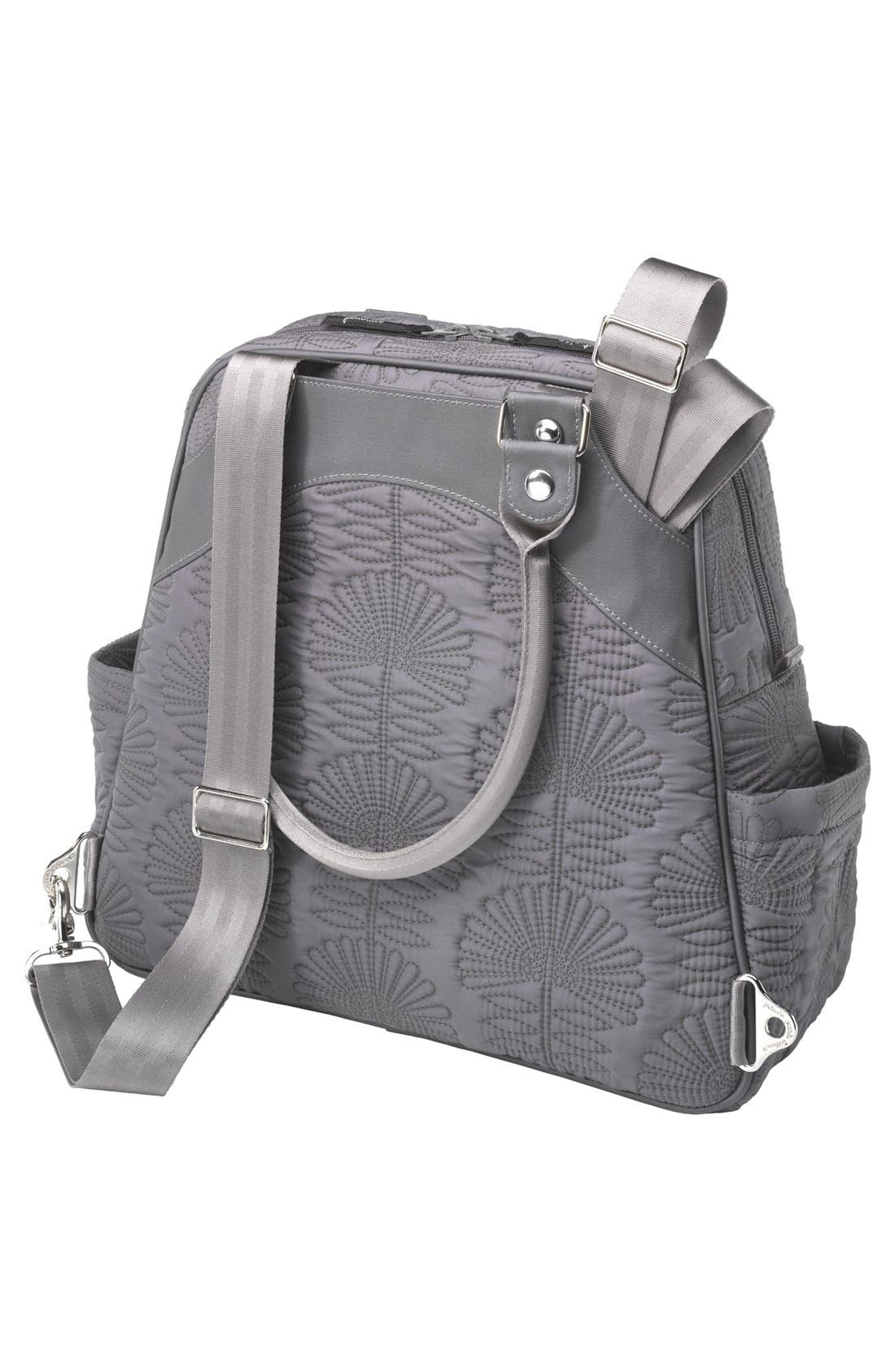 PETUNIA PICKLE BOTTOM, 'Embossed Sashay' Diaper Bag, Alternate thumbnail 2, color, 020