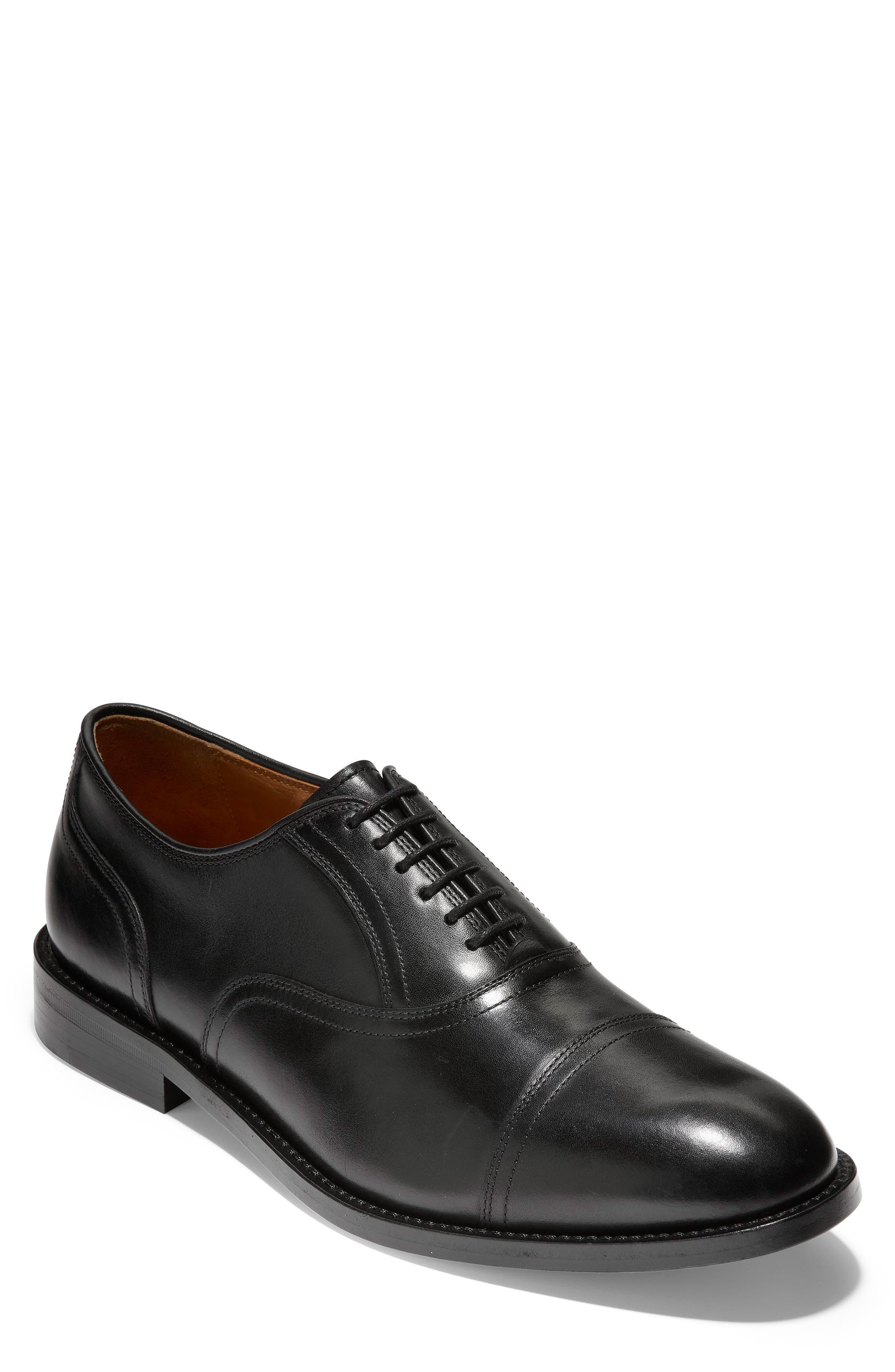 COLE HAAN American Classics Kneeland Cap Toe Oxford, Main, color, BLACK LEATHER