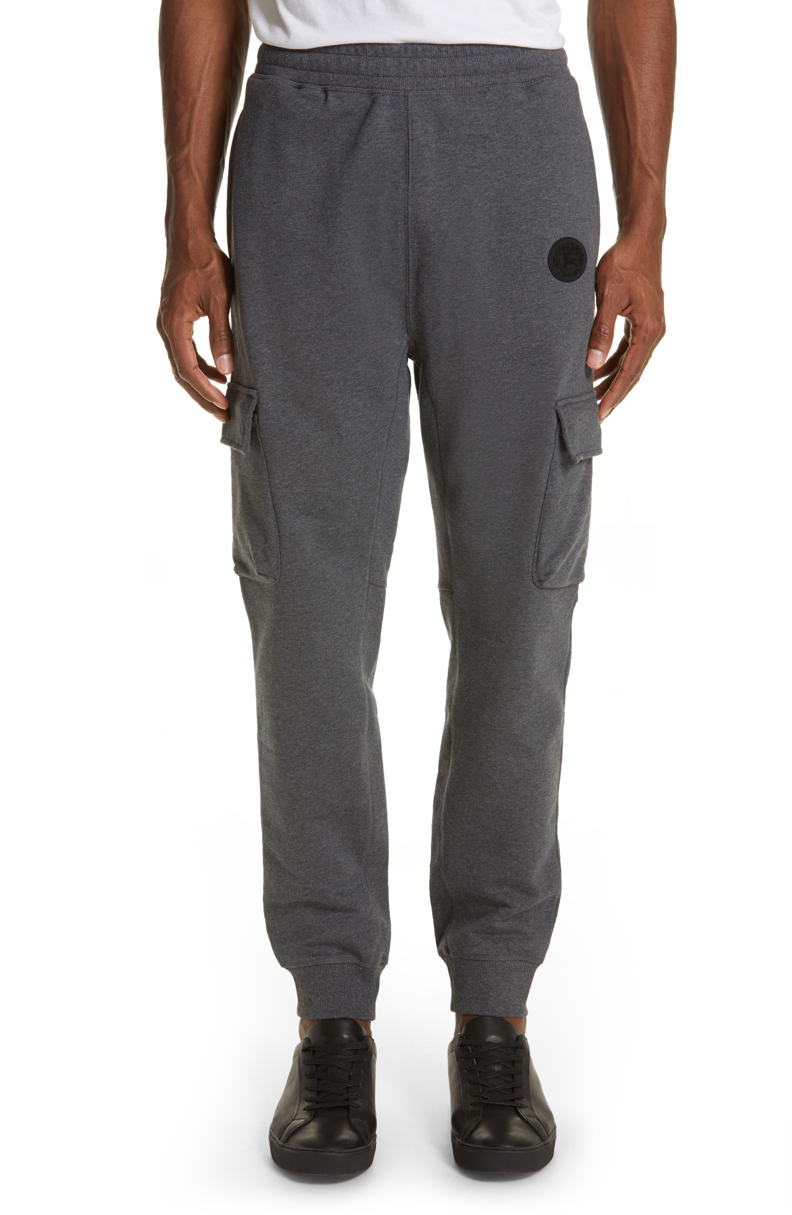 Burberry Cargo Jogger Pants, Grey