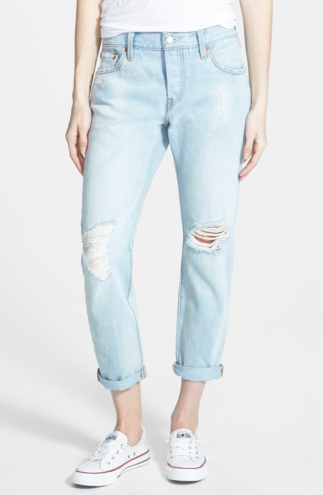 LEVI'S<SUP>®</SUP> Levi's '501<sup>®</sup> CT' Boyfriend Jeans, Main, color, 400