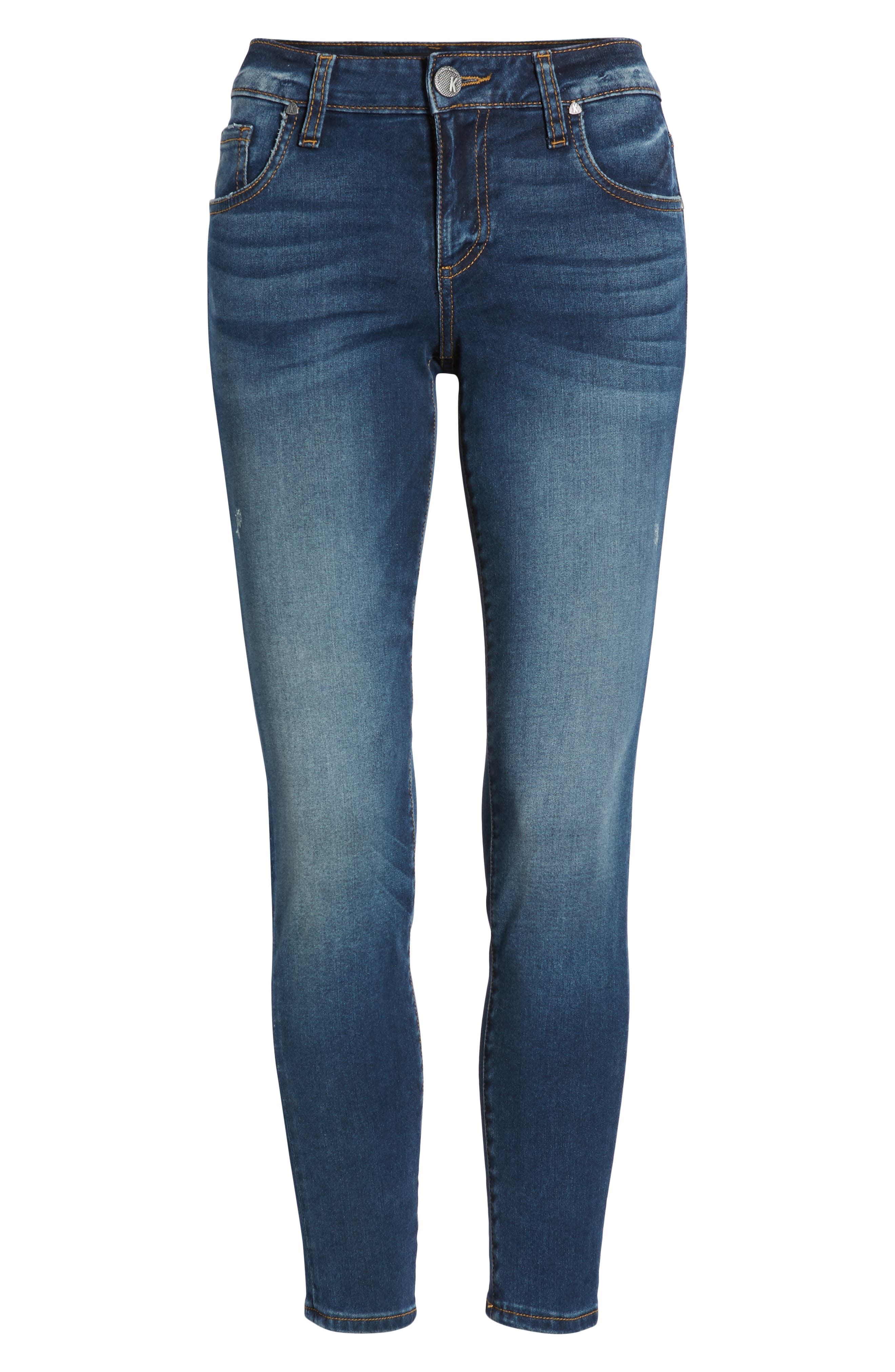 KUT FROM THE KLOTH, KUT From The Koth Donna Ankle Skinny Jeans, Alternate thumbnail 7, color, 400