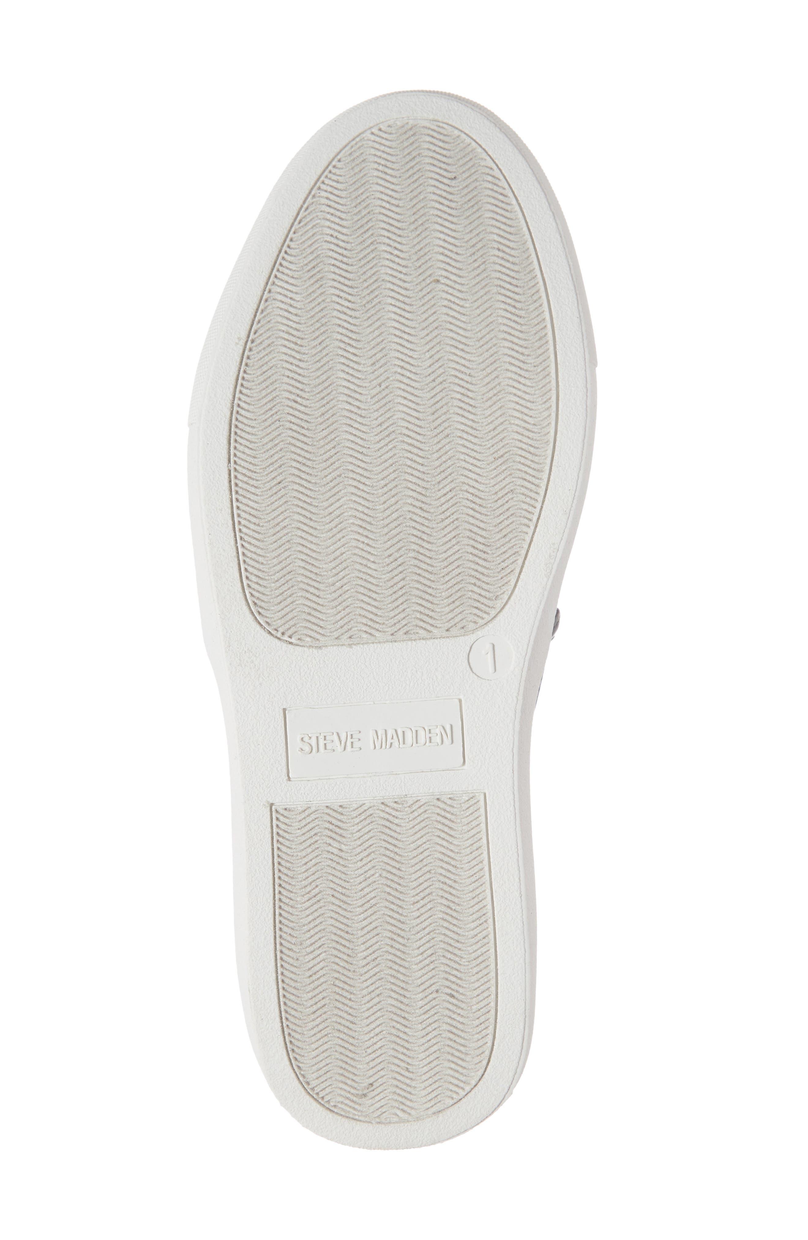 STEVE MADDEN, JPOWRFUL Embellished Slip-On Sneaker, Alternate thumbnail 6, color, BLACK MULTI