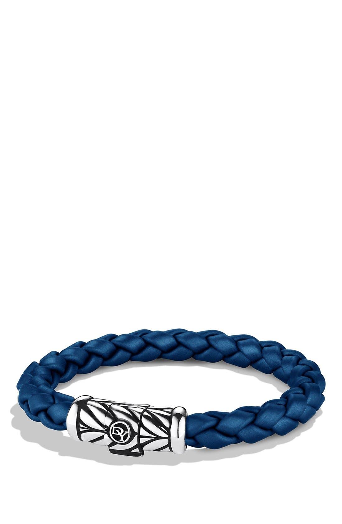 DAVID YURMAN, 'Chevron' Bracelet, Main thumbnail 1, color, BLUE