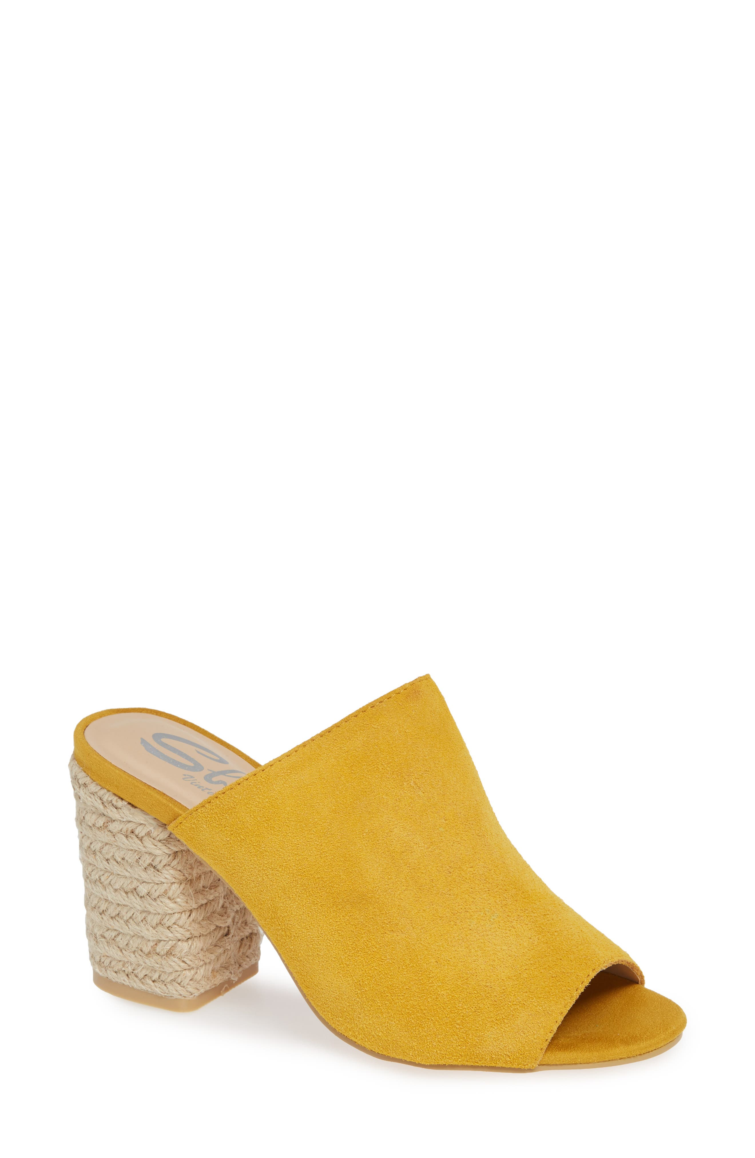 SBICCA, Helena Sandal, Main thumbnail 1, color, MUSTARD SUEDE
