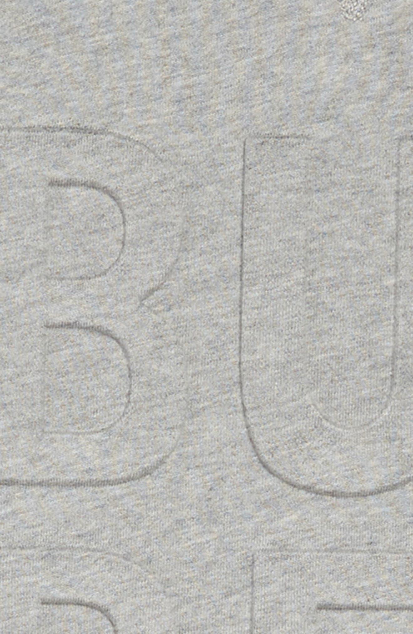 BURBERRY, Aurora Logo Sweatshirt Dress, Alternate thumbnail 3, color, GREY MELANGE