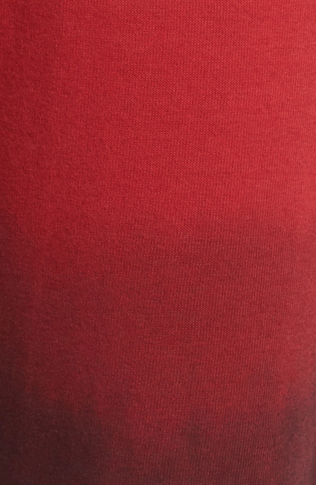 AVIATOR NATION, Faded Sweatpants, Alternate thumbnail 6, color, RED / CHARCOAL