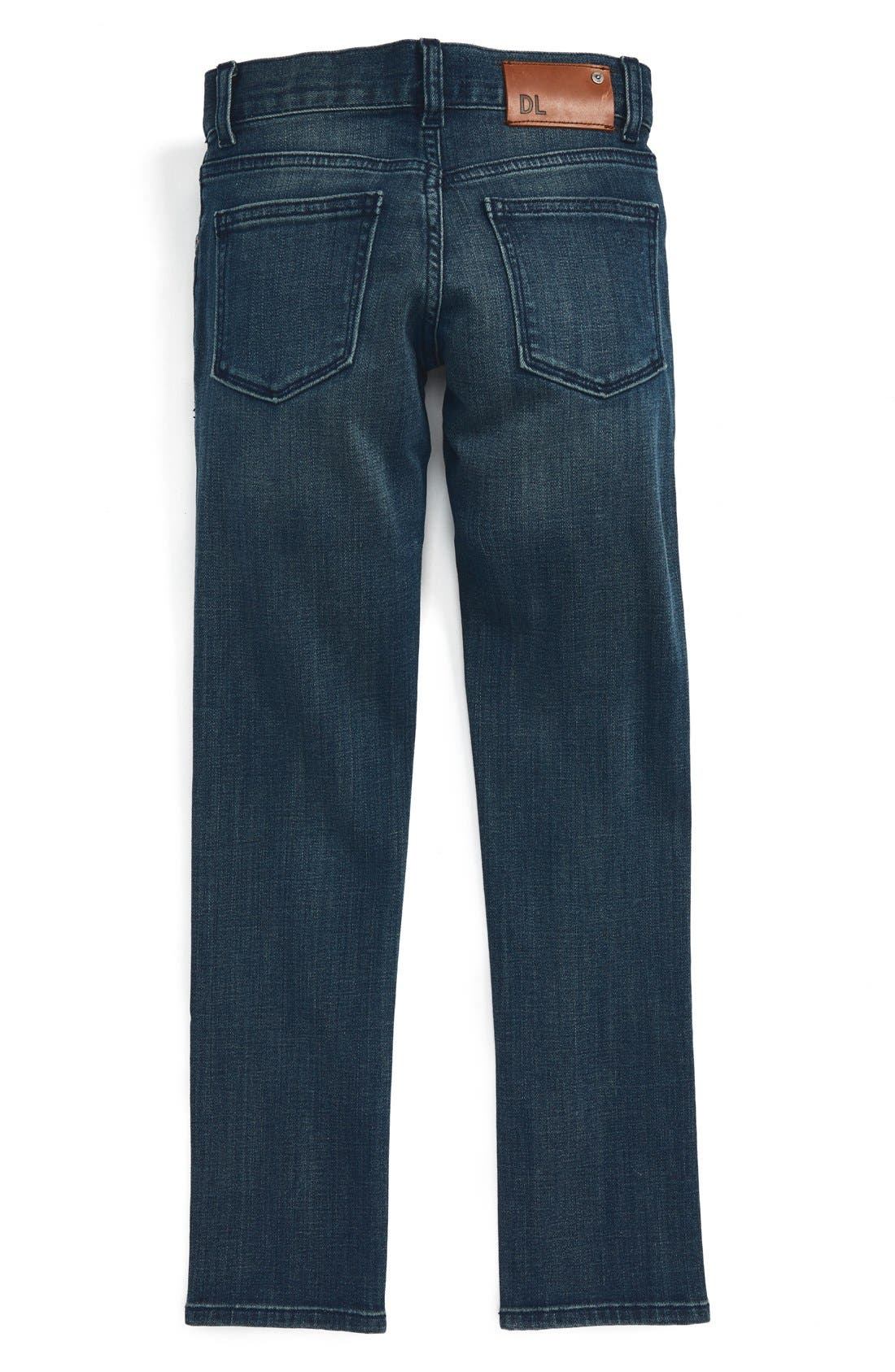 DL1961, 'Hawke' Skinny Jeans, Alternate thumbnail 2, color, SCABBARD