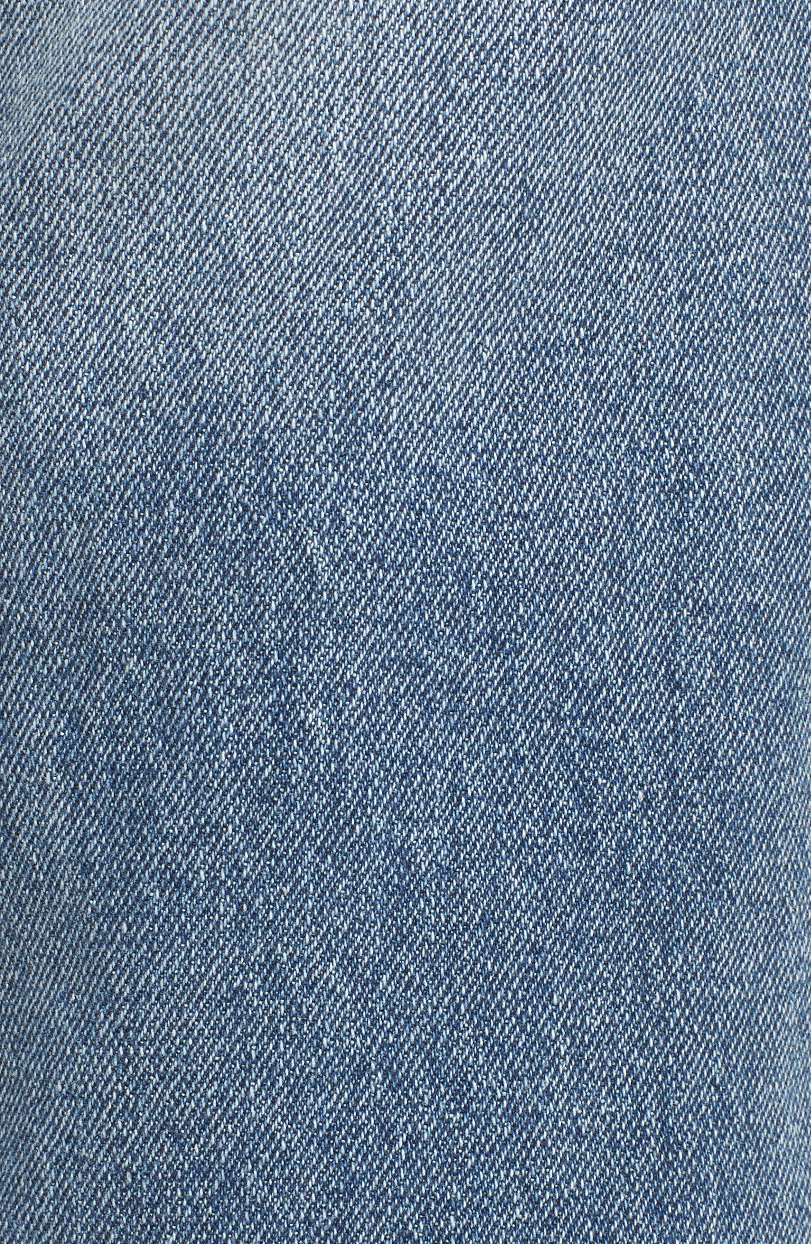 PROSPERITY DENIM, Crop Straight Leg Jeans, Alternate thumbnail 6, color, MED WASH