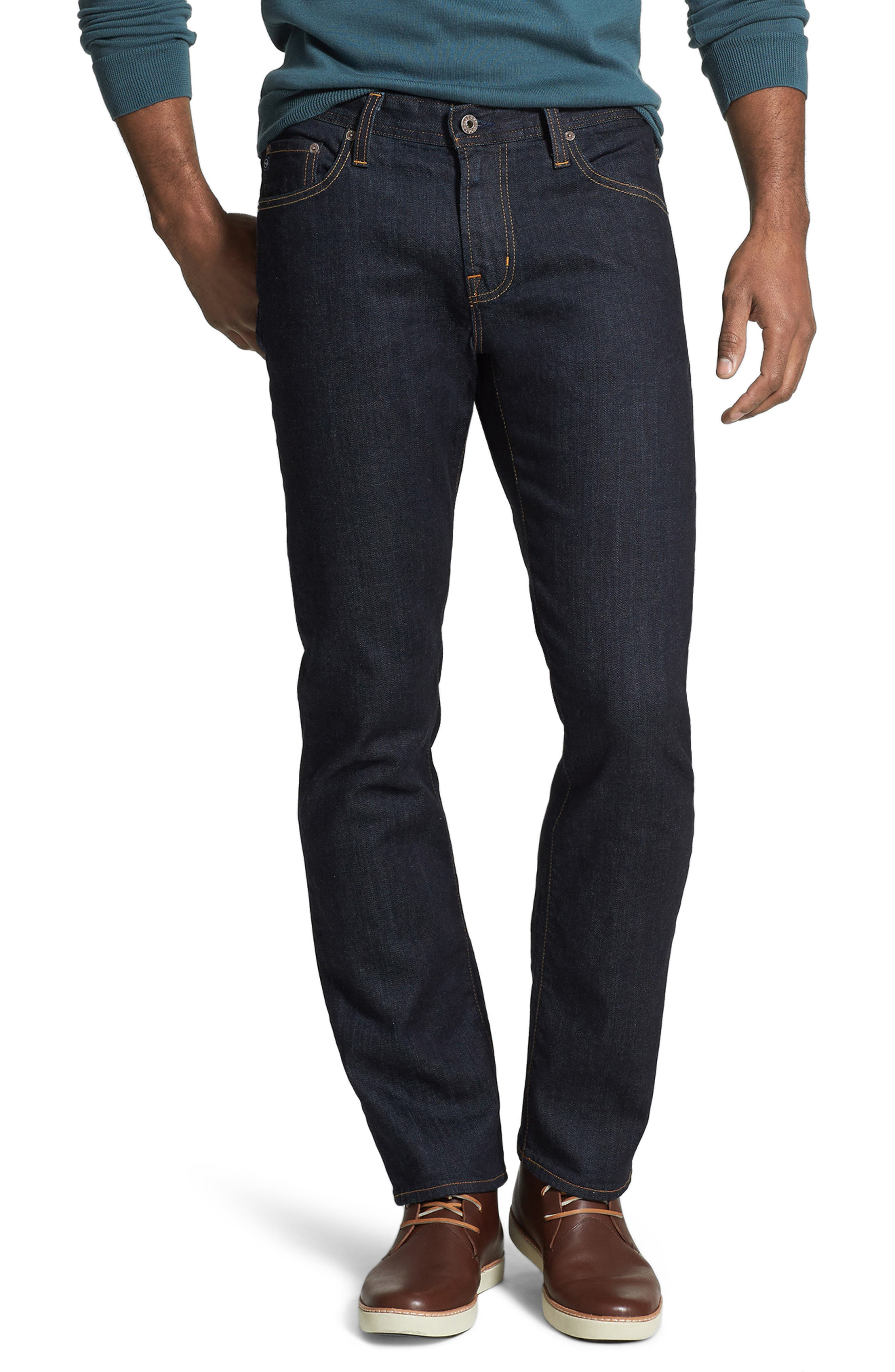 AG, 'Graduate' Slim Straight Leg Jeans, Alternate thumbnail 5, color, JACK
