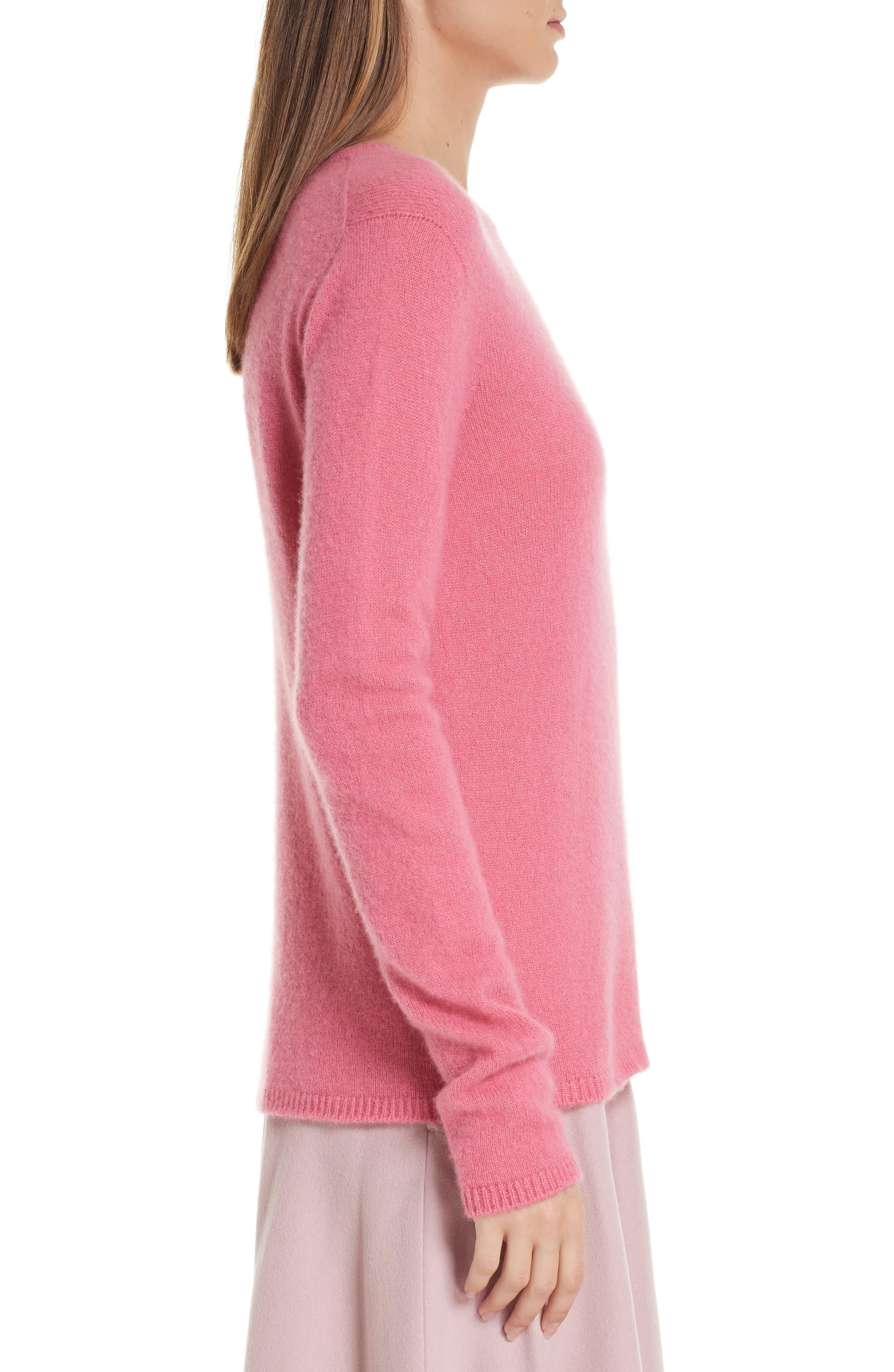 MAX MARA, Stelvio Cashmere & Silk Sweater, Alternate thumbnail 3, color, 672