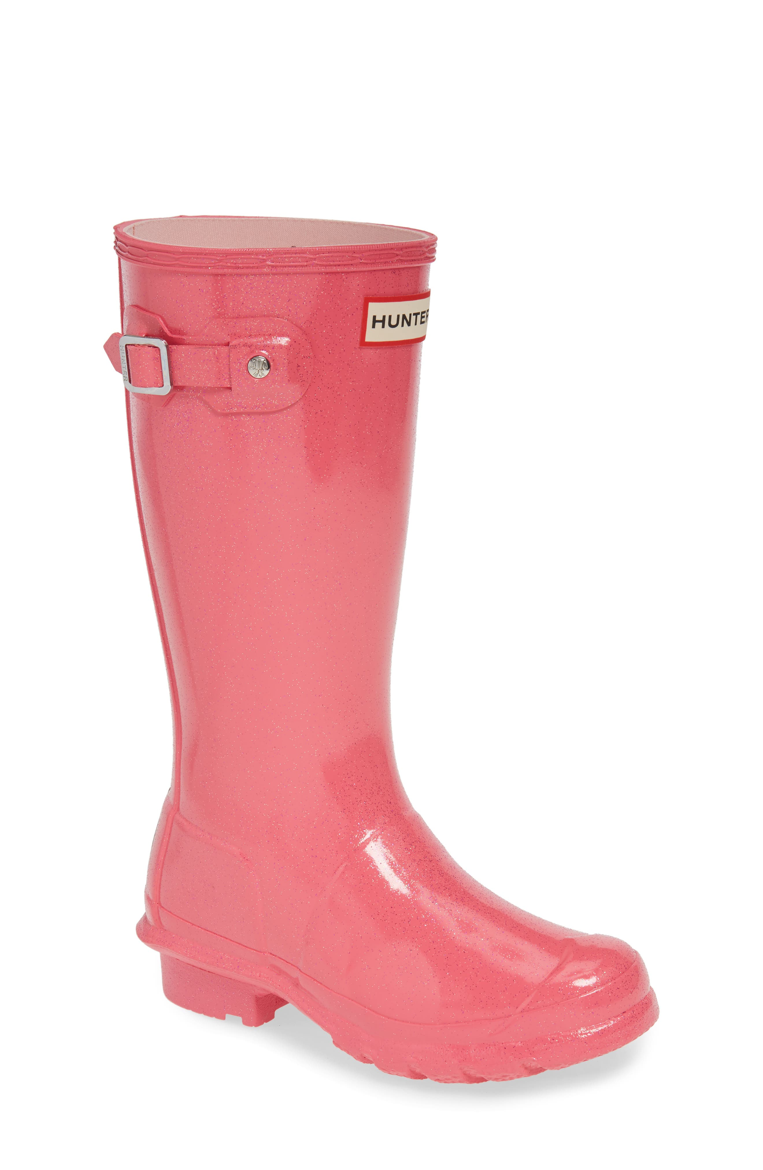 HUNTER Starcloud Glitter Rain Boot, Main, color, ARCADE PINK