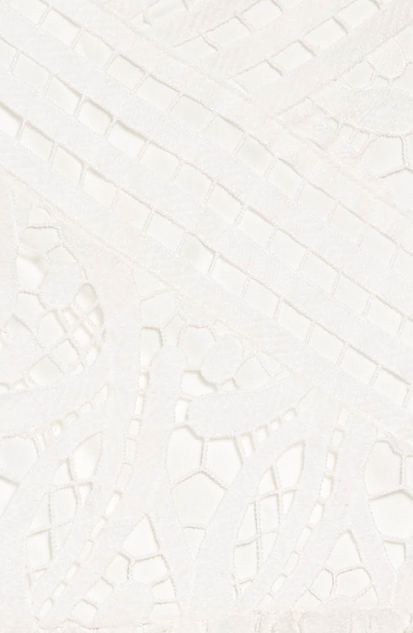 TRIXXI, Guipure Lace Dress, Alternate thumbnail 3, color, WHITE
