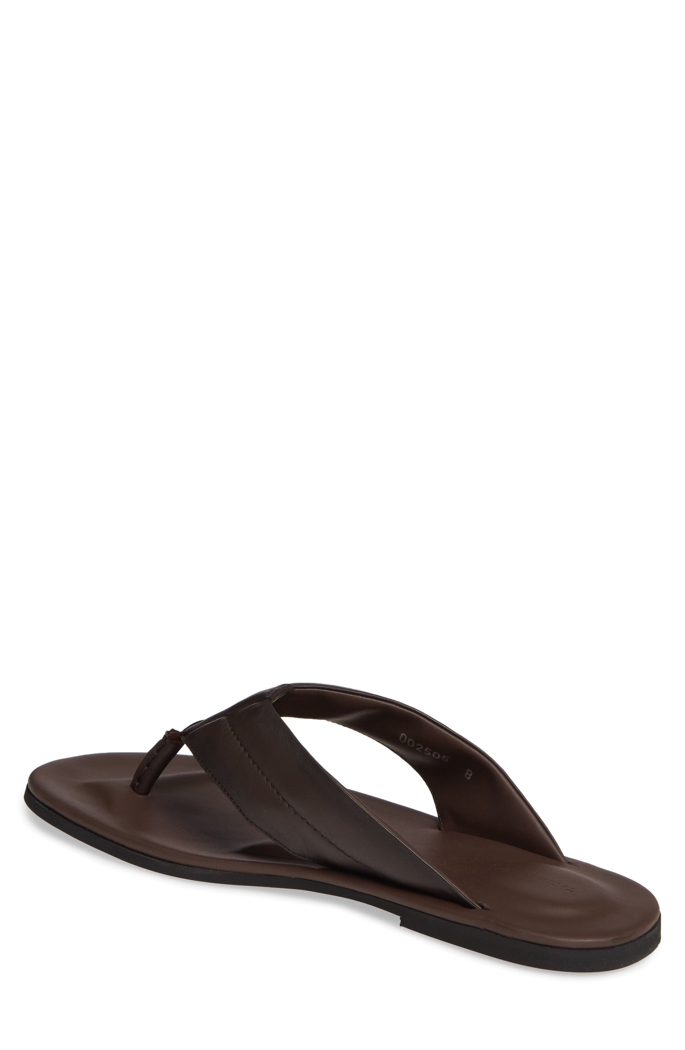 TO BOOT NEW YORK, Grande Flip Flop, Alternate thumbnail 2, color, BROWN LEATHER