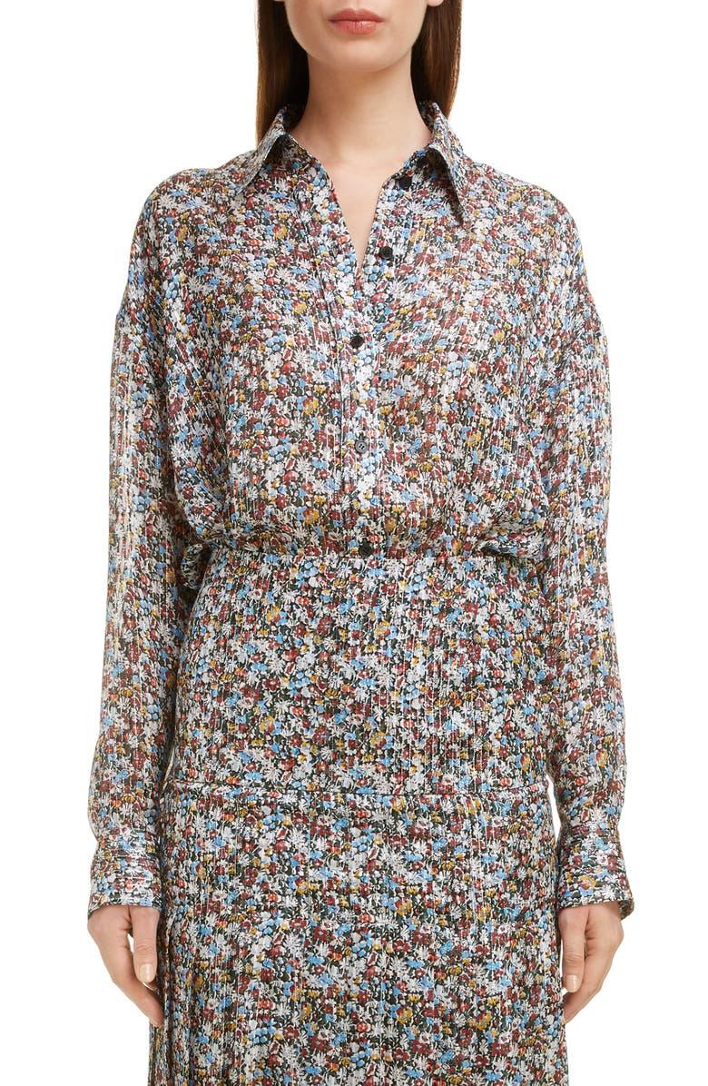 Victoria Beckham T-shirts OVERSIZE FLORAL PRINT SHIRT