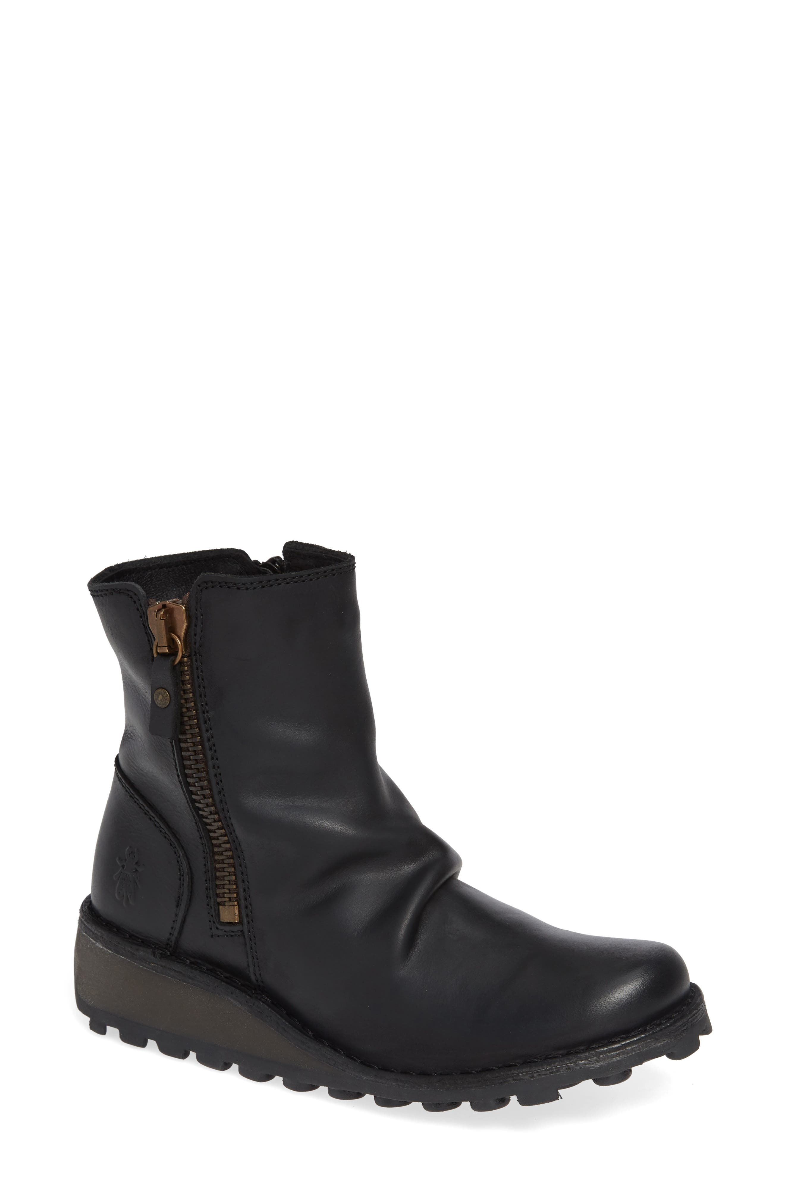 FLY LONDON Mong Boot, Main, color, BLACK LEATHER