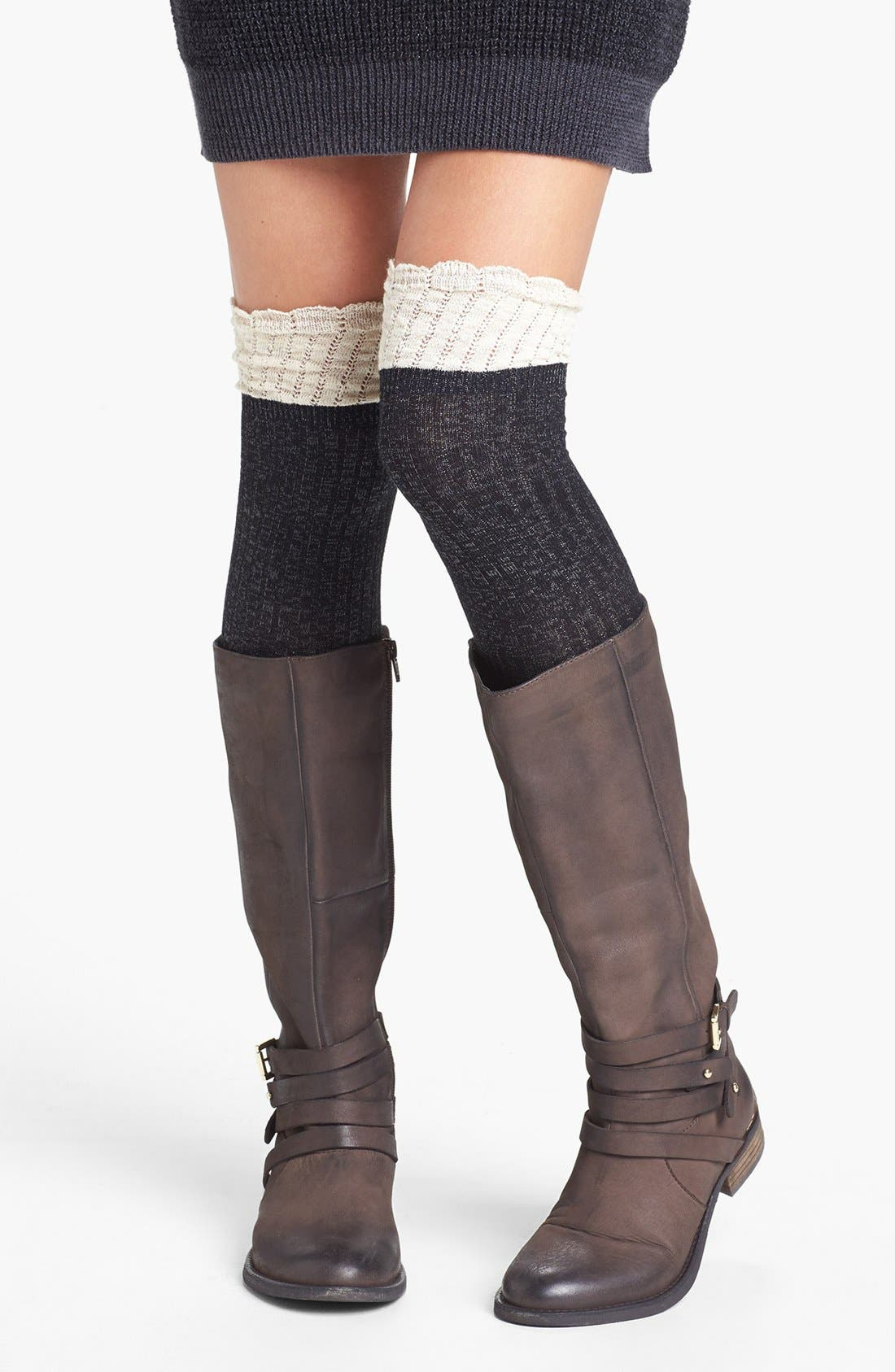 BP., Colorblock Over the Knee Socks, Main thumbnail 1, color, 020