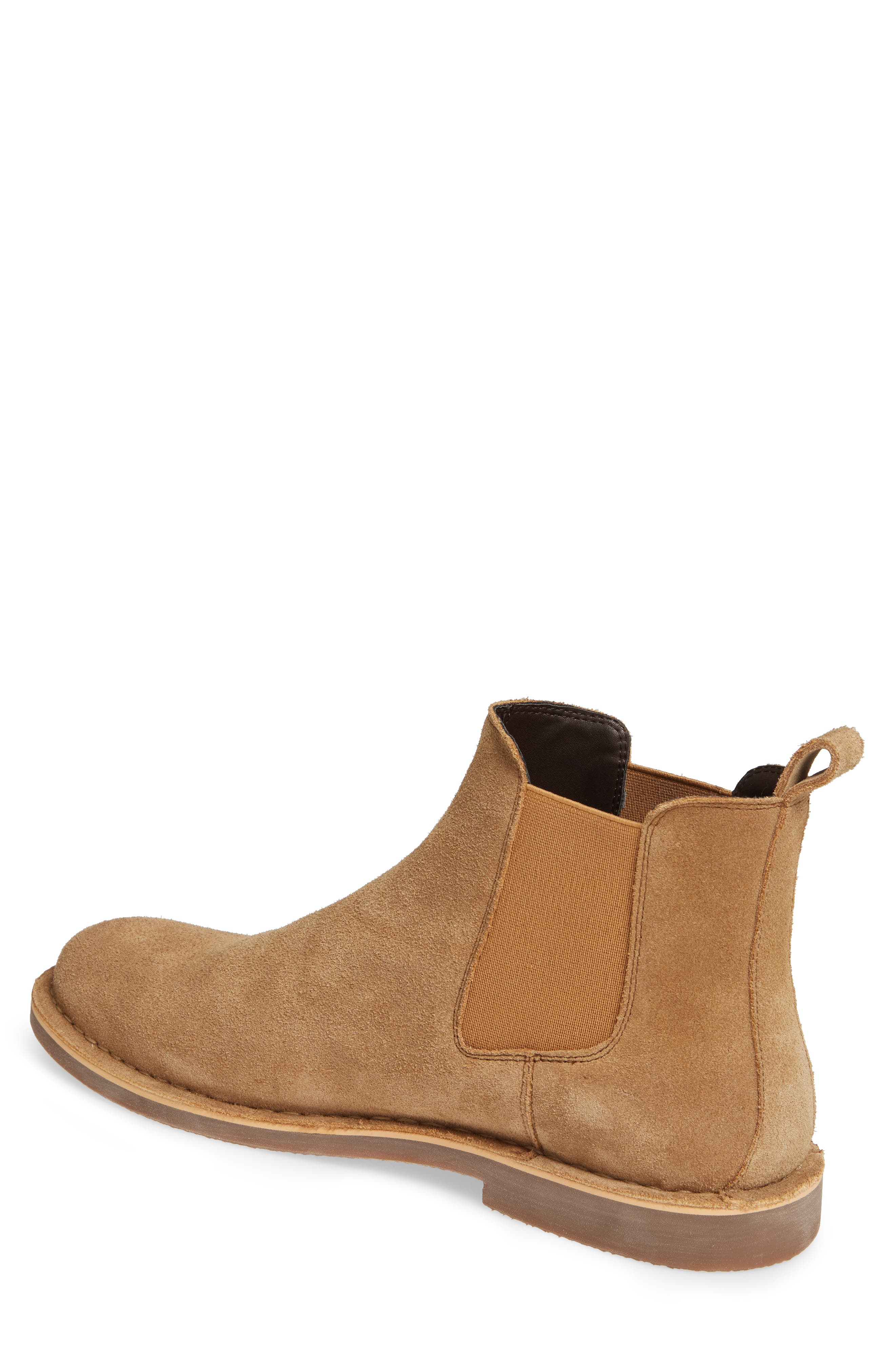 THE RAIL, Payson Chelsea Boot, Alternate thumbnail 2, color, SAND SUEDE