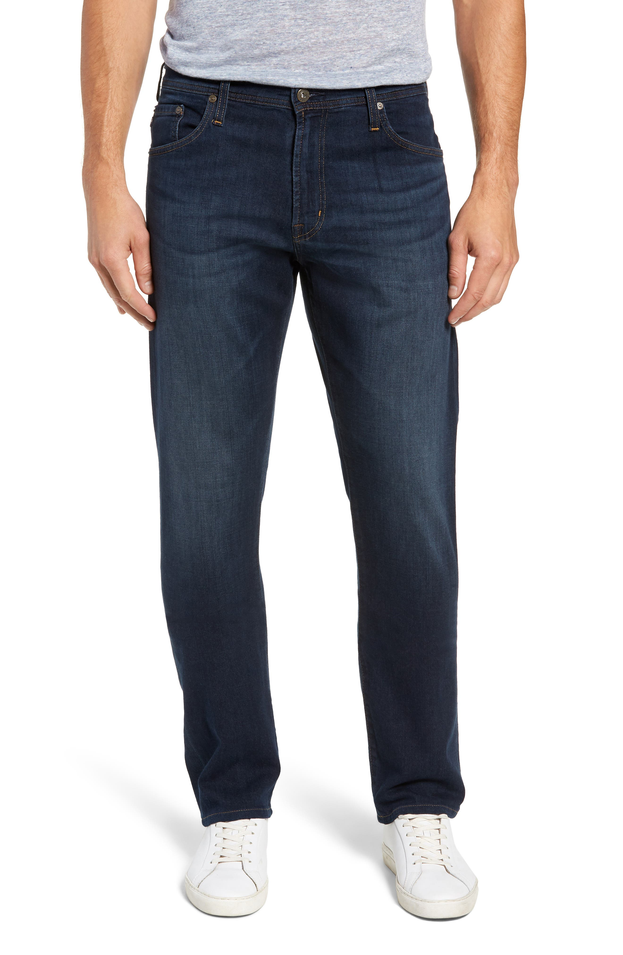 AG, Ives Straight Leg Jeans, Main thumbnail 1, color, COVET